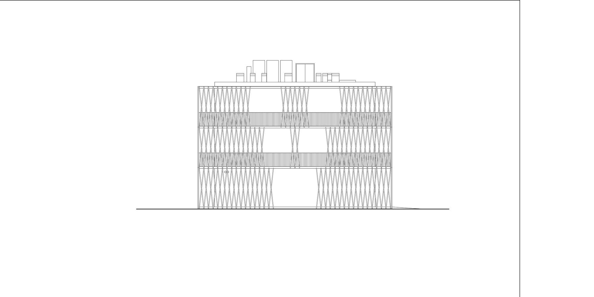 East Elevation © Antonio Iascone Ingegneri Architetti