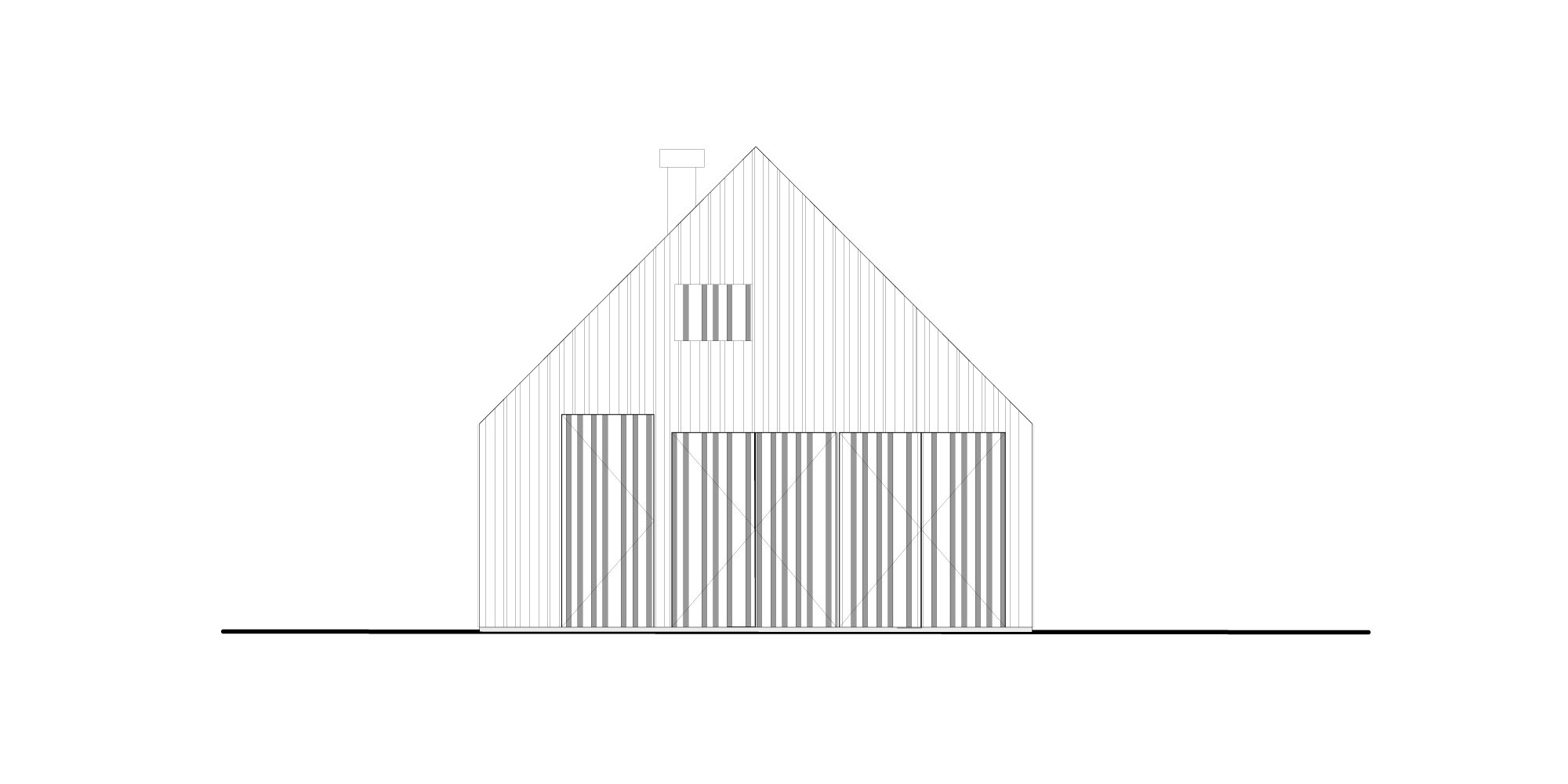 South-west elevation © 70F architecture