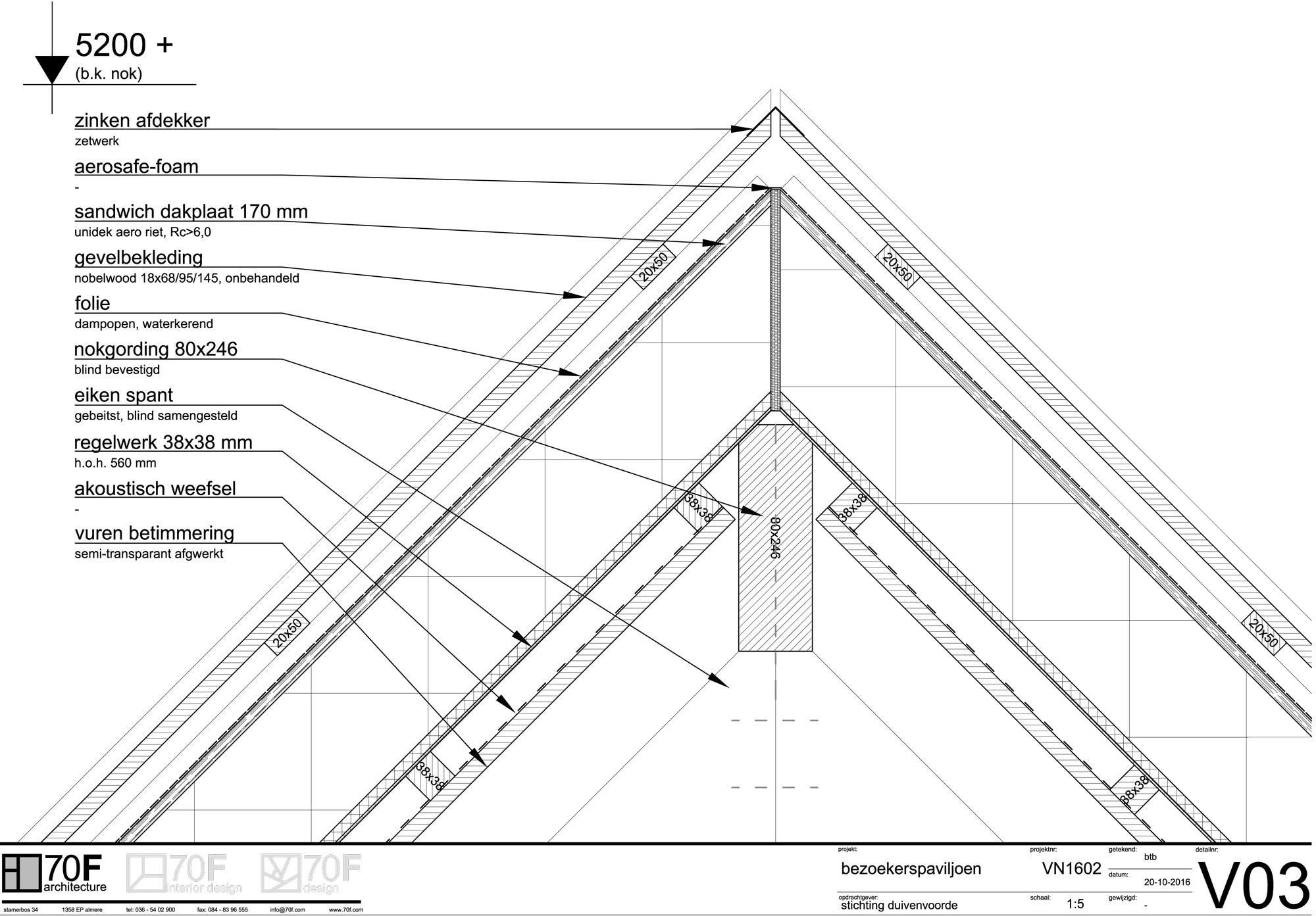 Roof detail © 70F architecture