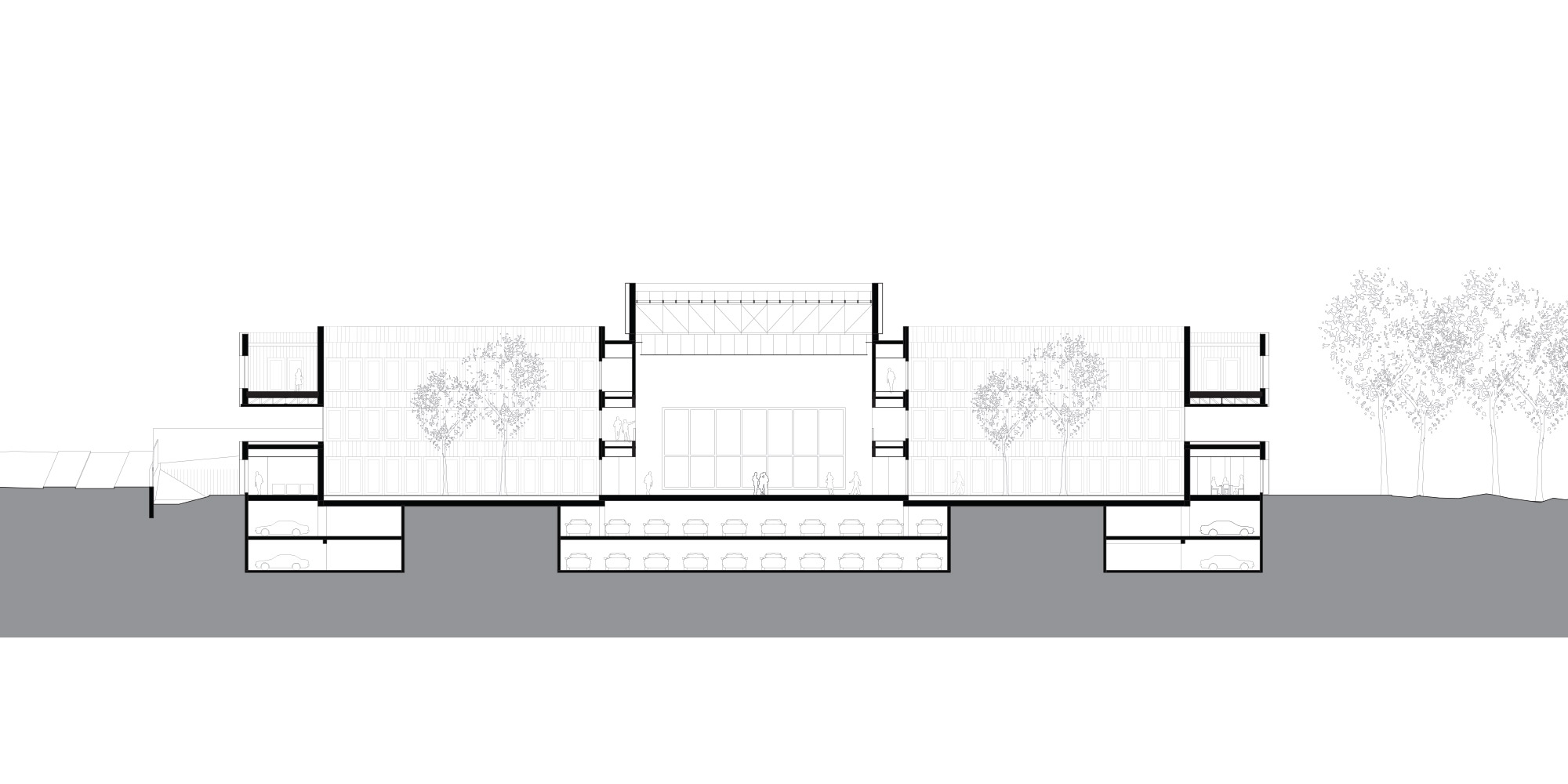 Sezione DD © KAAN Architecten and PDAA