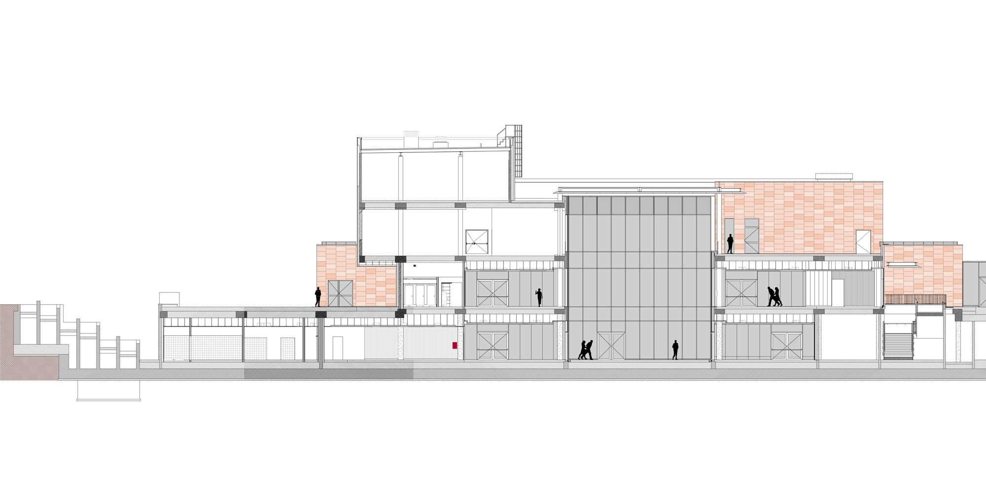 HUB - AA section © FTA - Filippo Taidelli Architetto