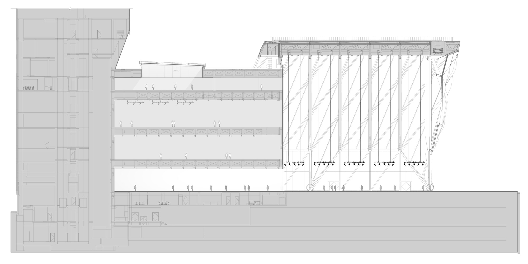 AA Section - Standing © Diller Scofidio + Renfro