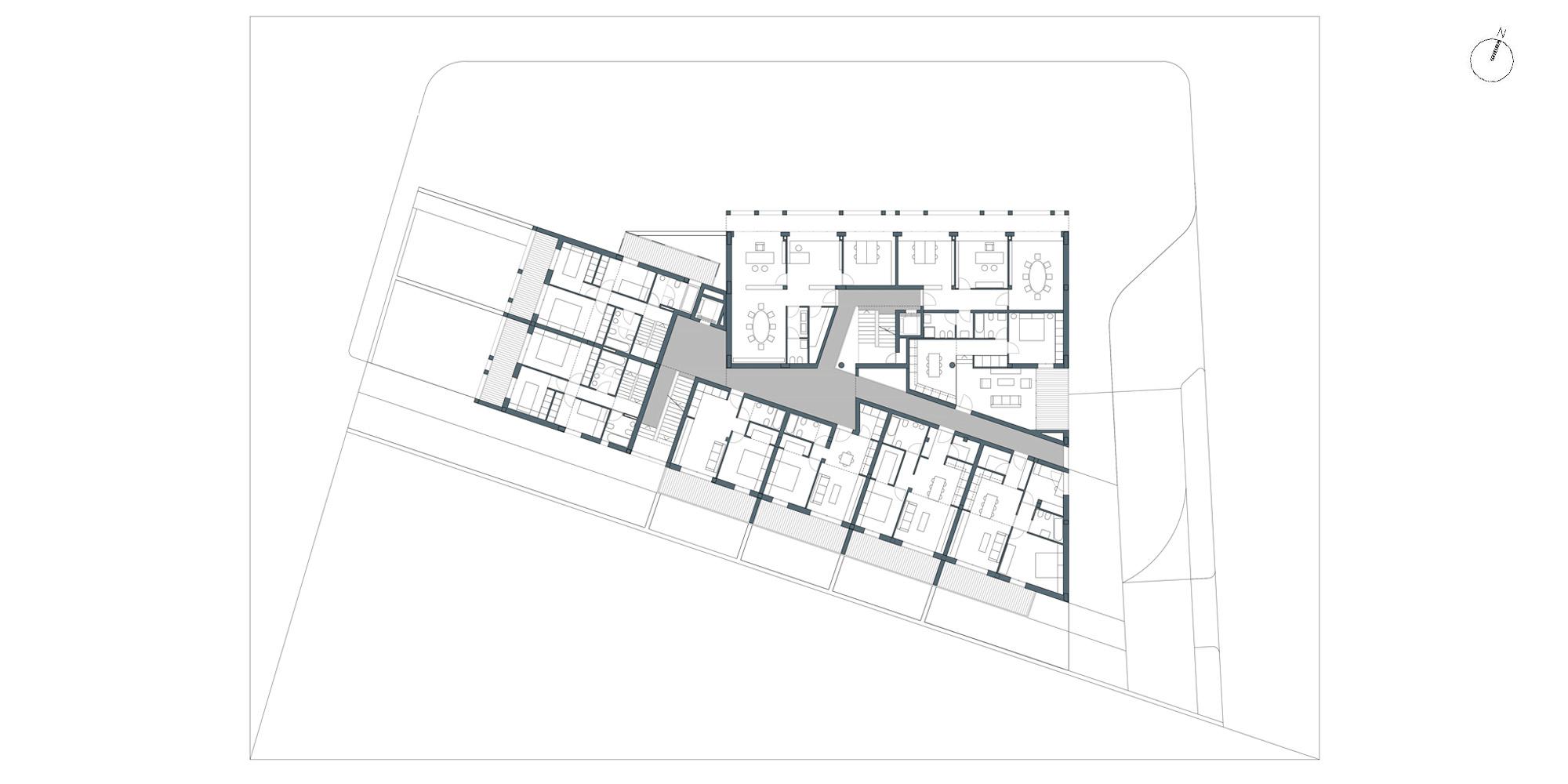 Pianta piano primo © Netti Architetti