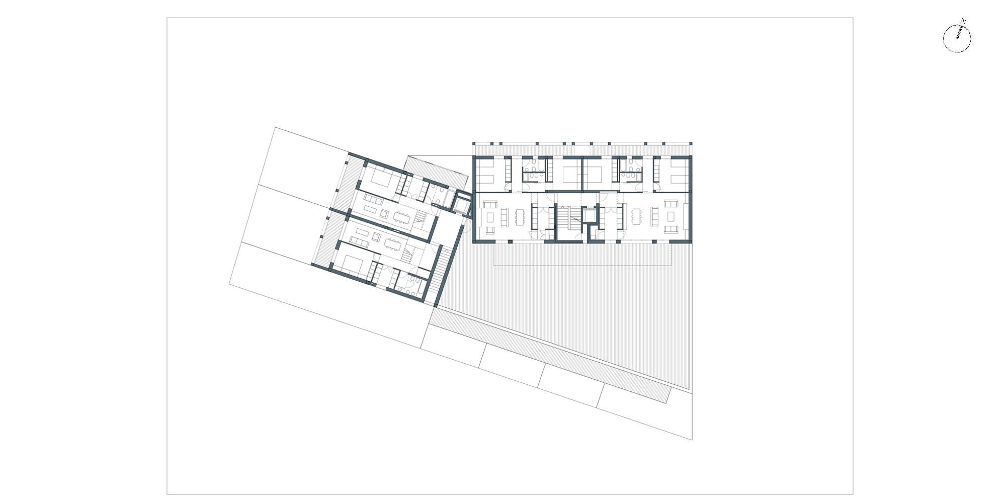 Pianta piano secondo © Netti Architetti