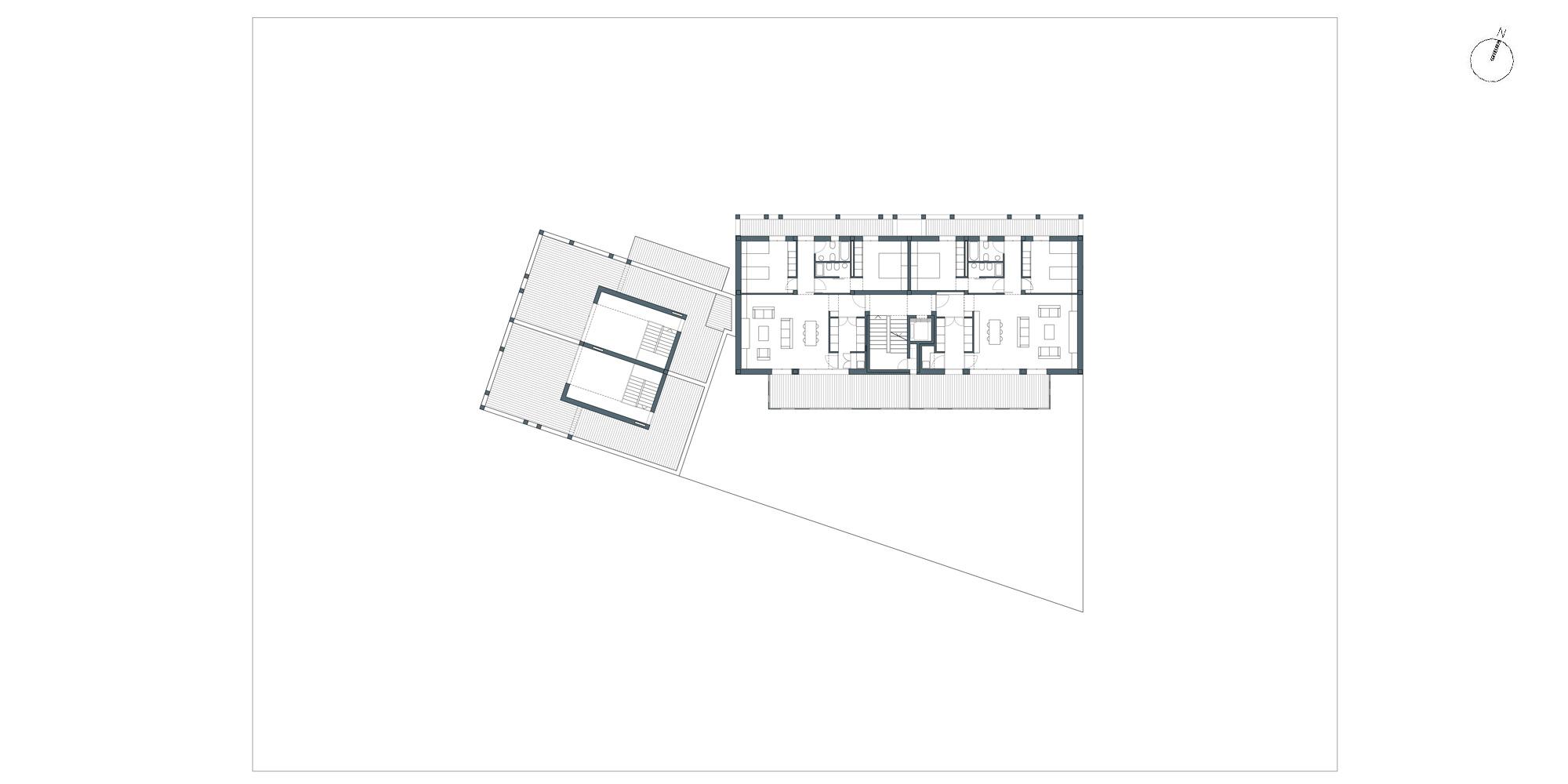Pianta piano terzo © Netti Architetti