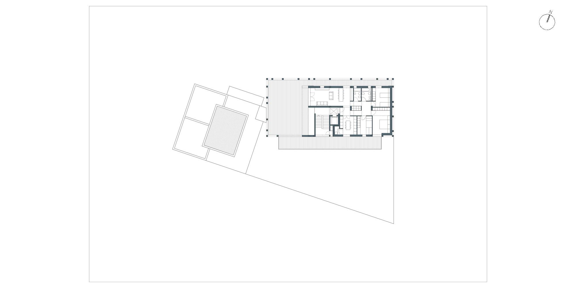 Pianta piano attico © Netti Architetti