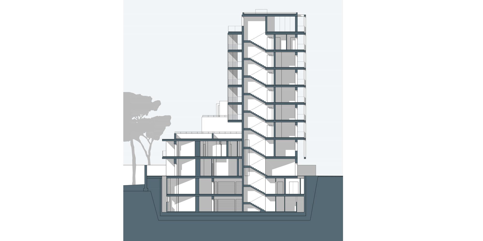 Sezione AA © Netti Architetti