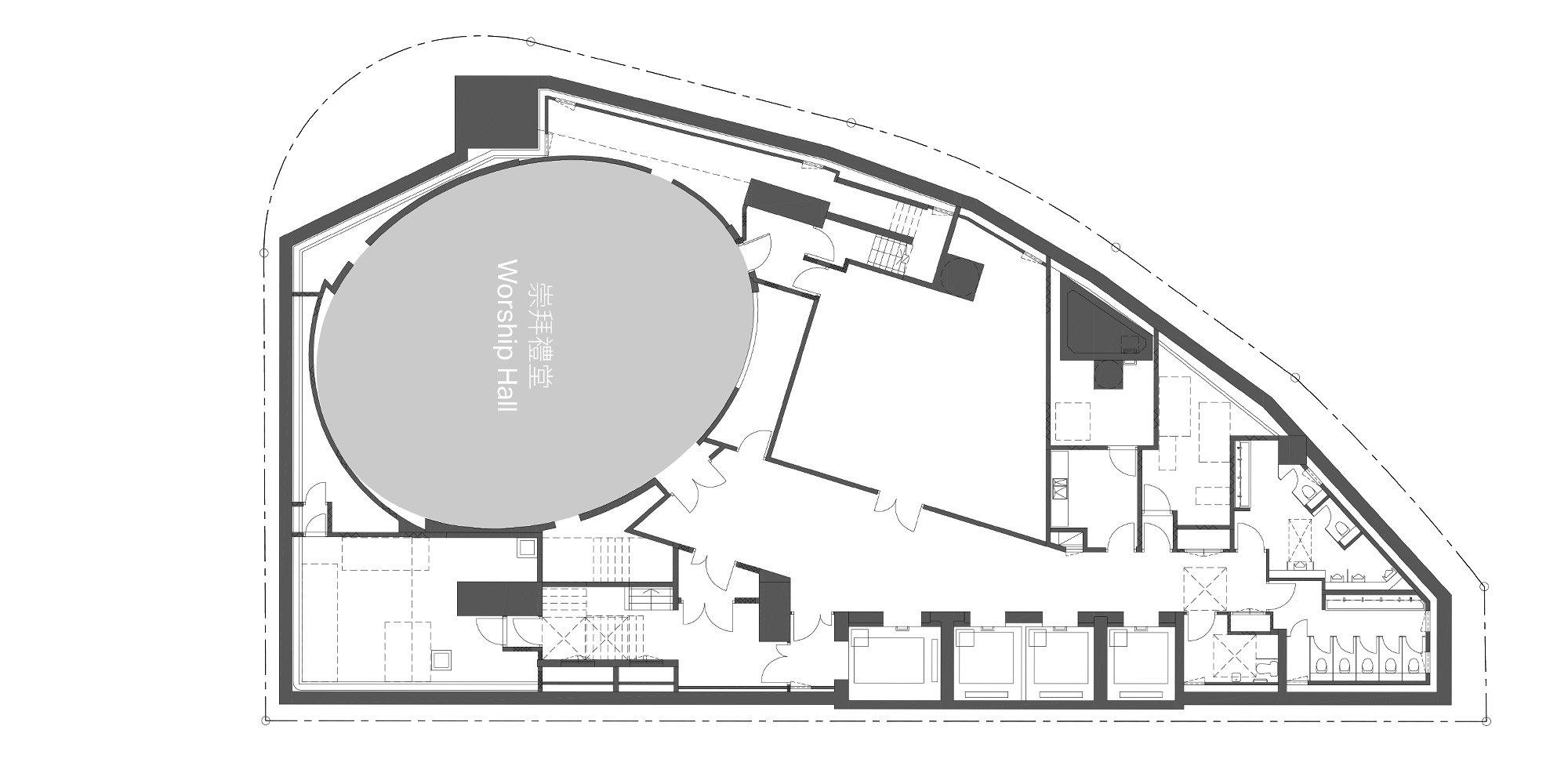 Pianta Piano Interrato © Rocco Design Architects Associates