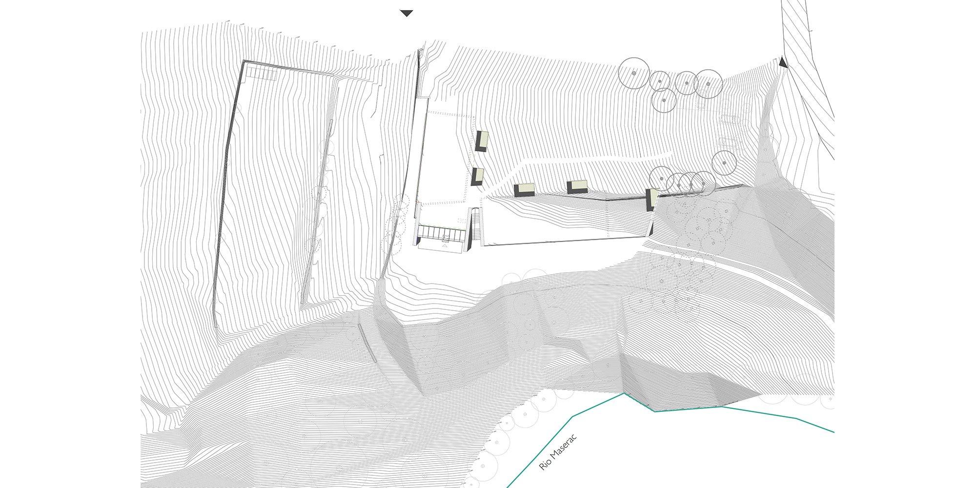 Planimetria © Stefania Saracino e Franco Tagliabue Architetti