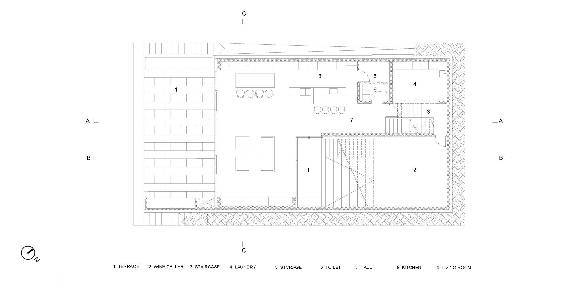 Underground floor plan © OFIS architekti