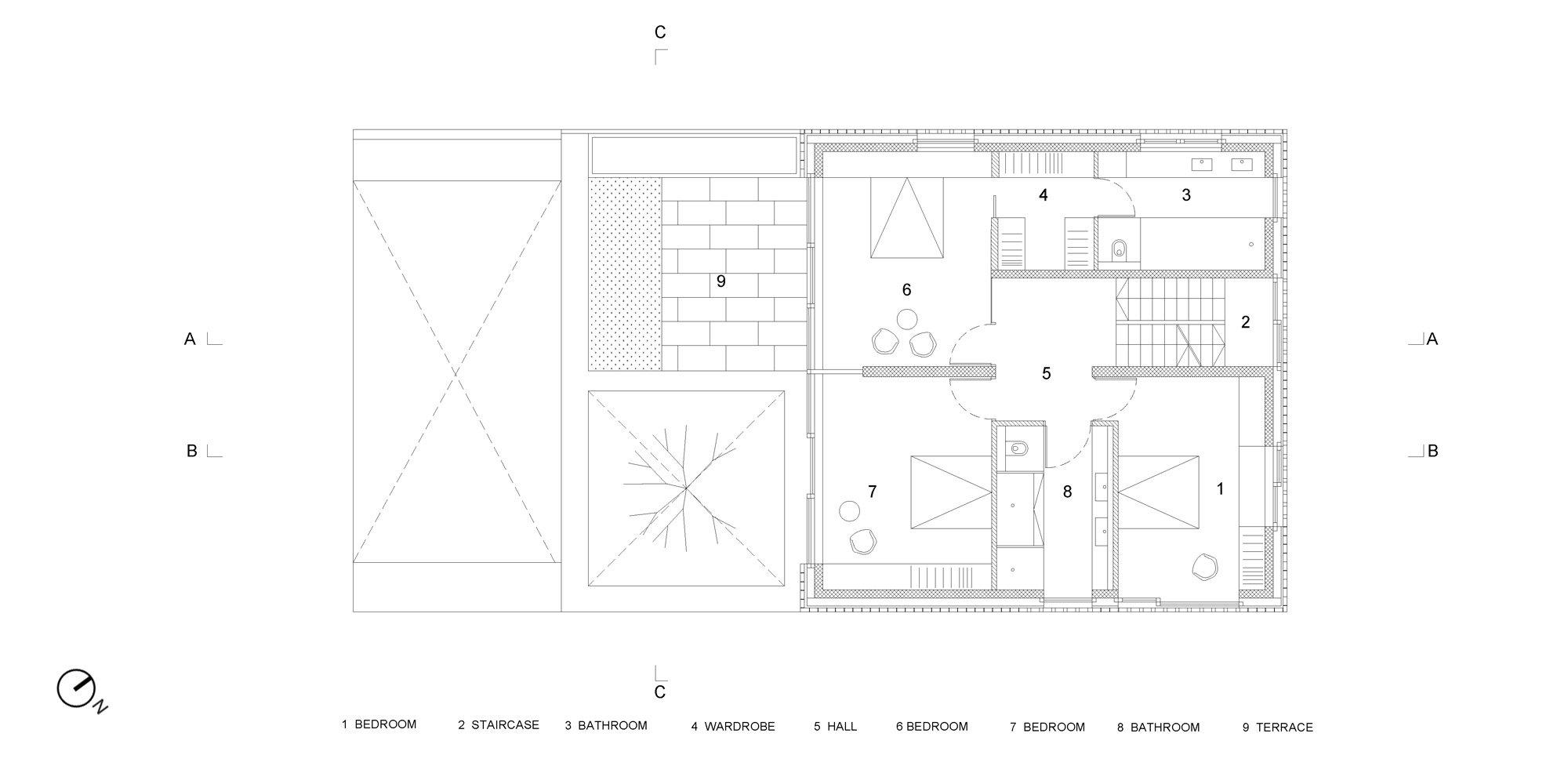 First floor plan © OFIS architekti
