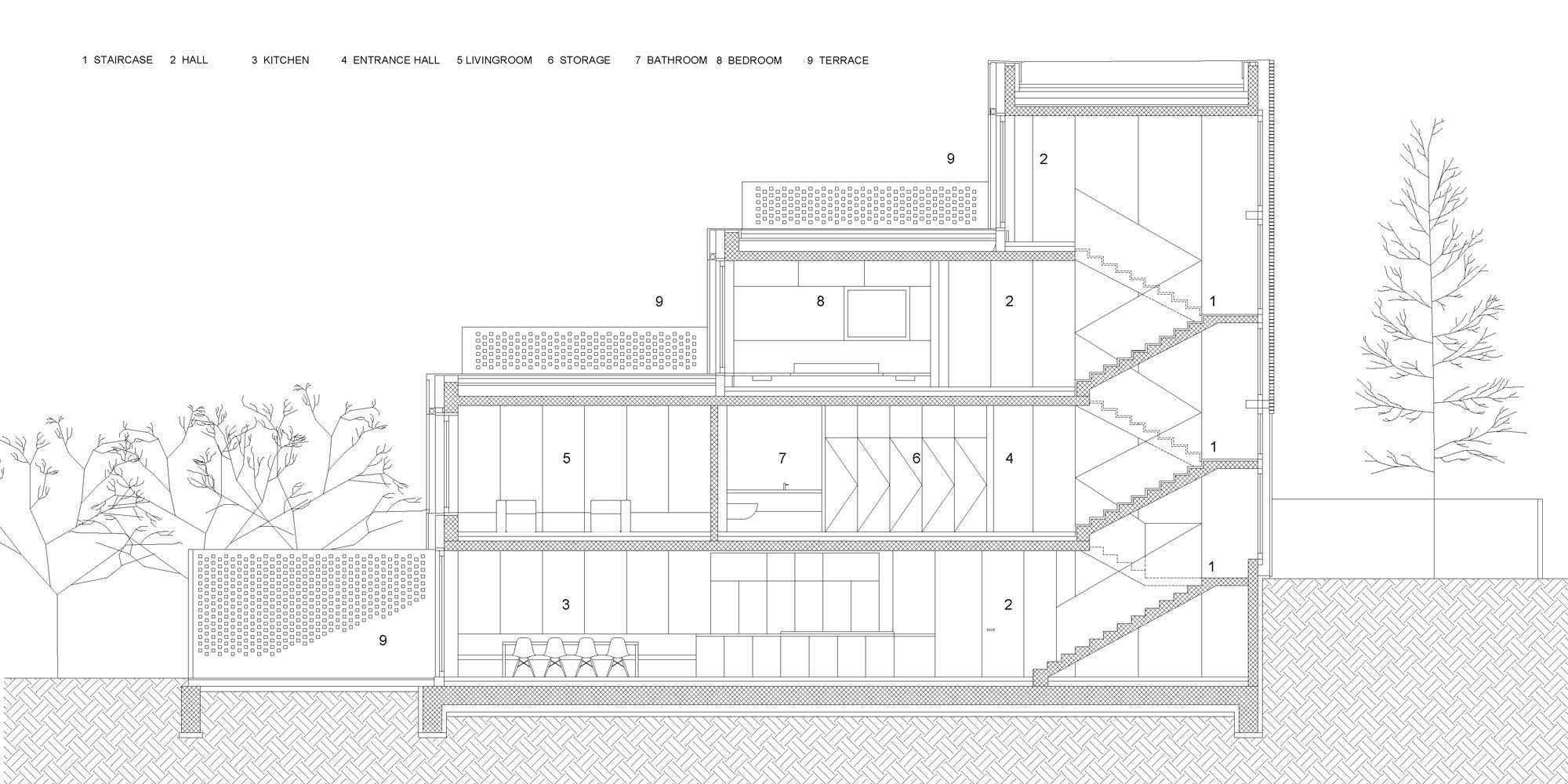 AA section © OFIS architekti