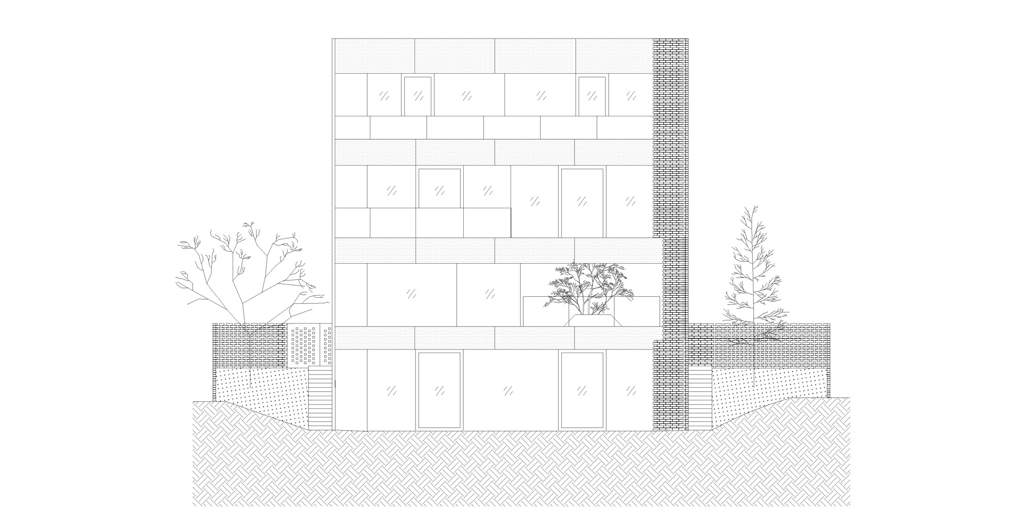 West elevation © OFIS architekti