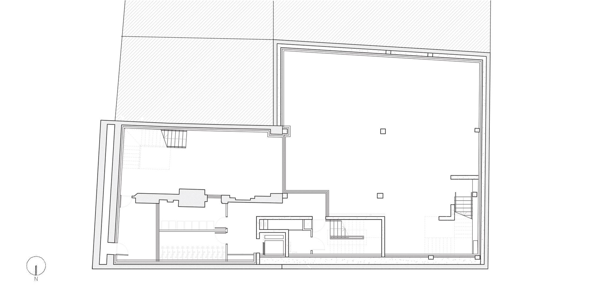 Basement floor plan © DROO