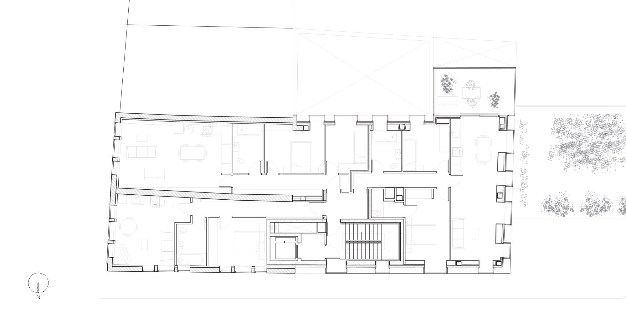 Second floor plan © DROO