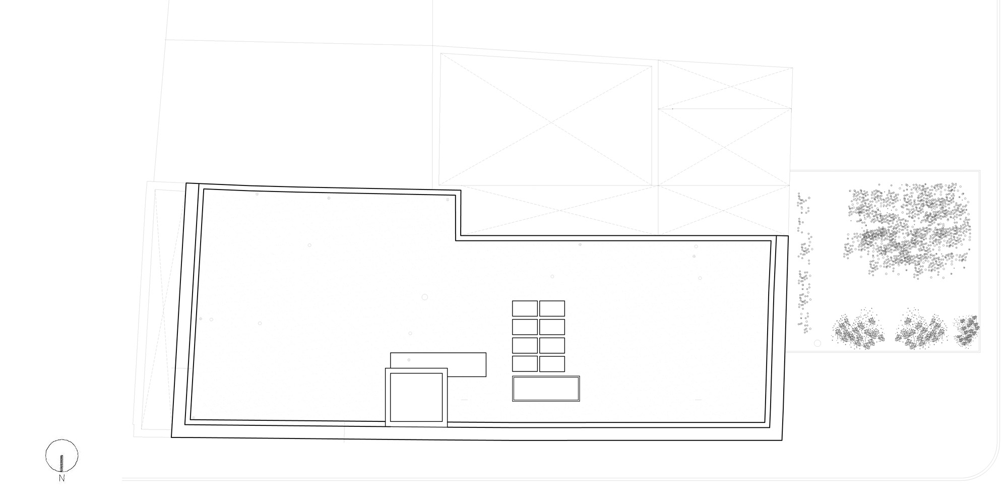 Roof plan © DROO