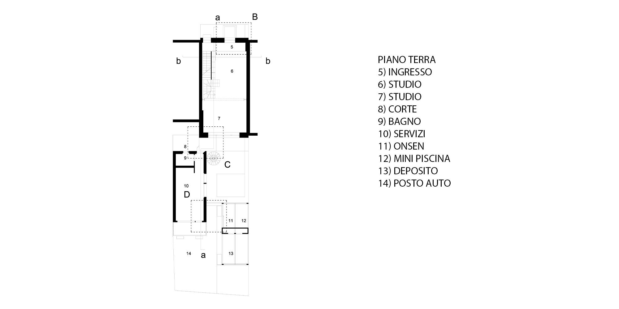 Pianta Piano Terra © Piraccini + Potente Architettur