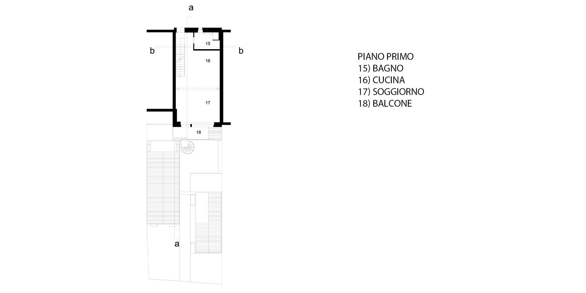 Pianta Piano Primo © Piraccini + Potente Architettur