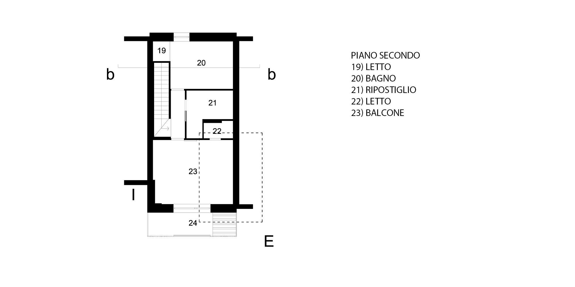 Pianta piano secondo © Piraccini + Potente Architettura
