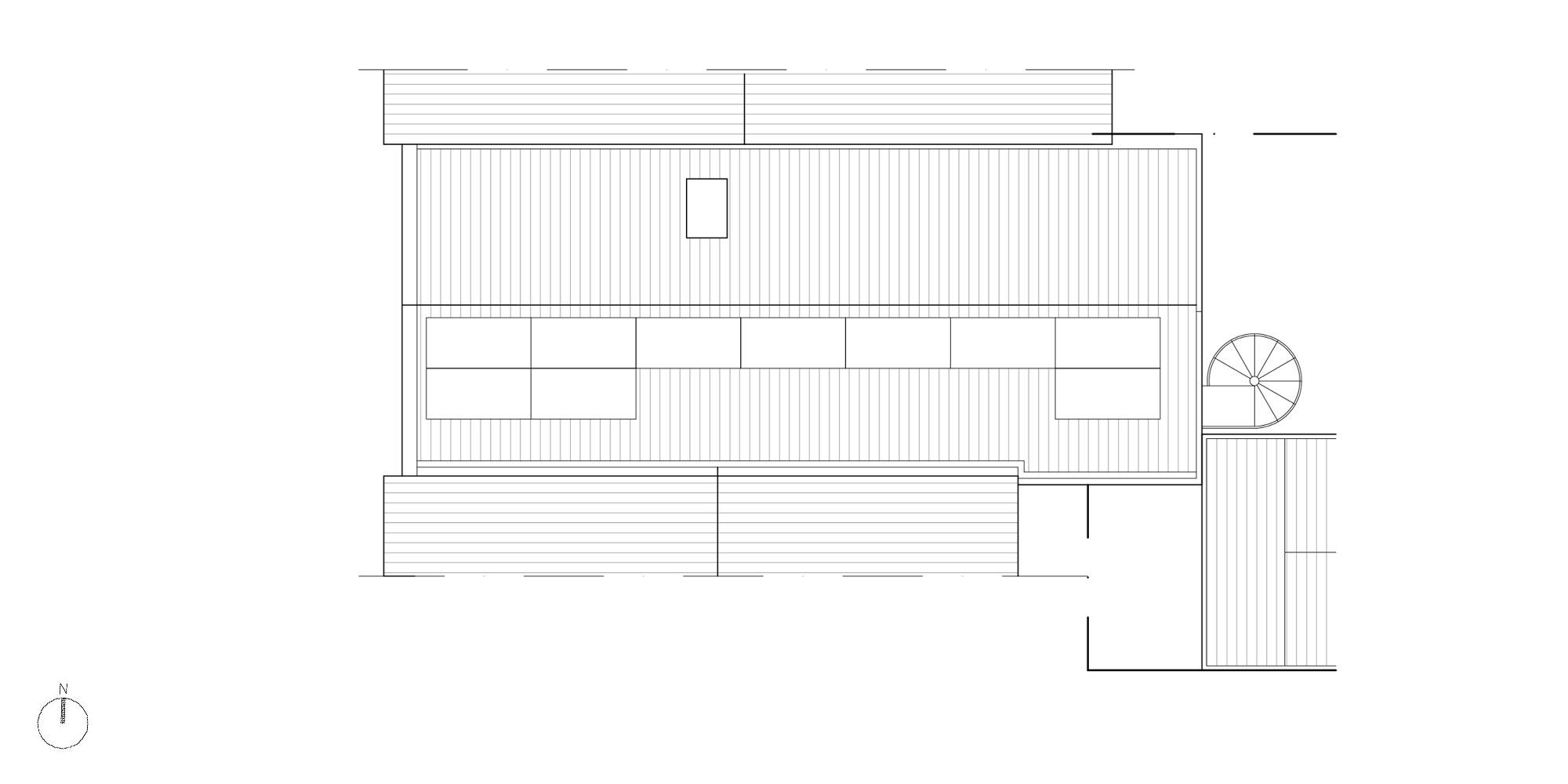 Pianta copertura © Piraccini + Potente Architettur