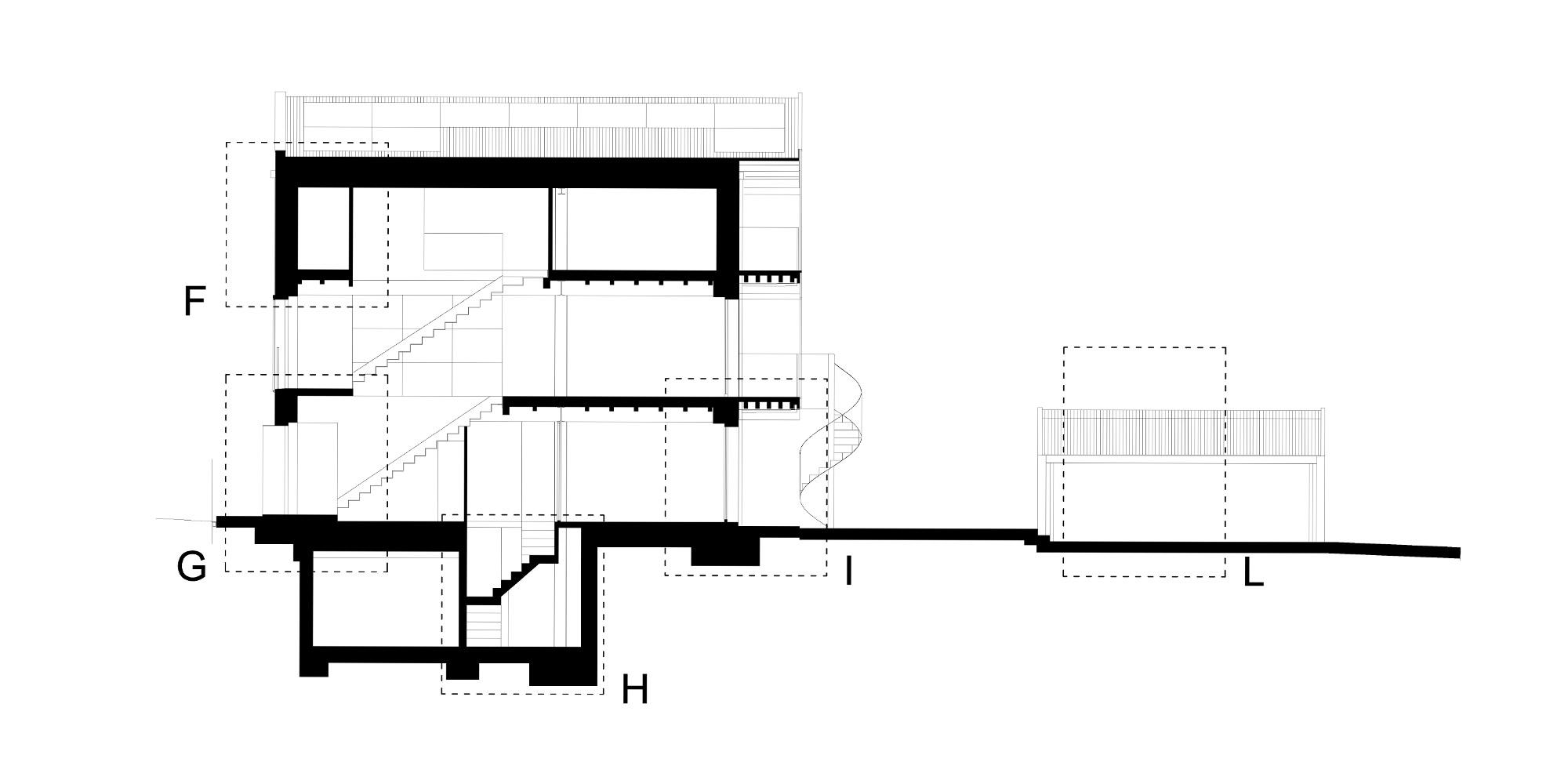 Sezione AA © Piraccini + Potente Architettur