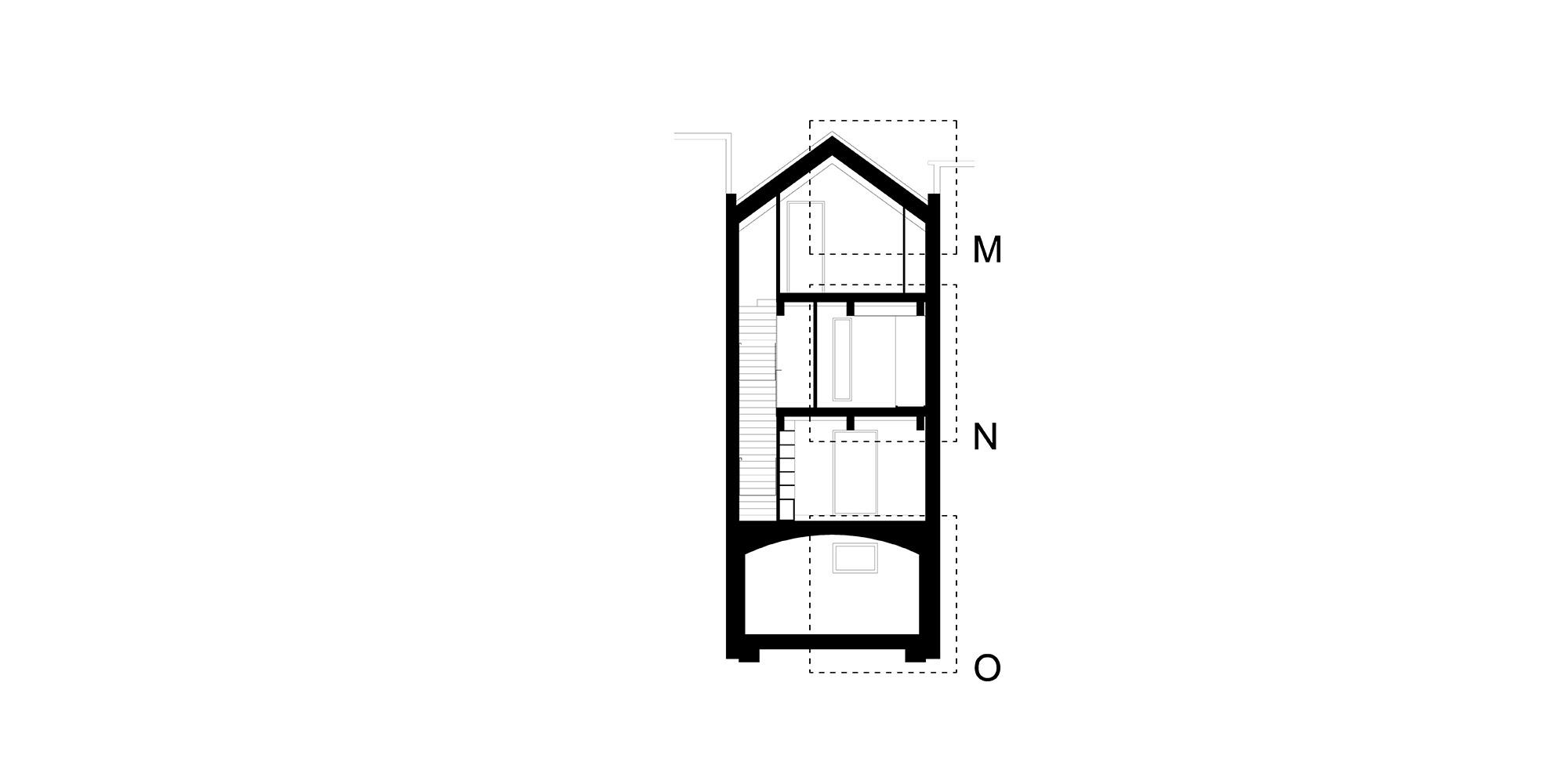 Sezione BB © Piraccini + Potente Architettur