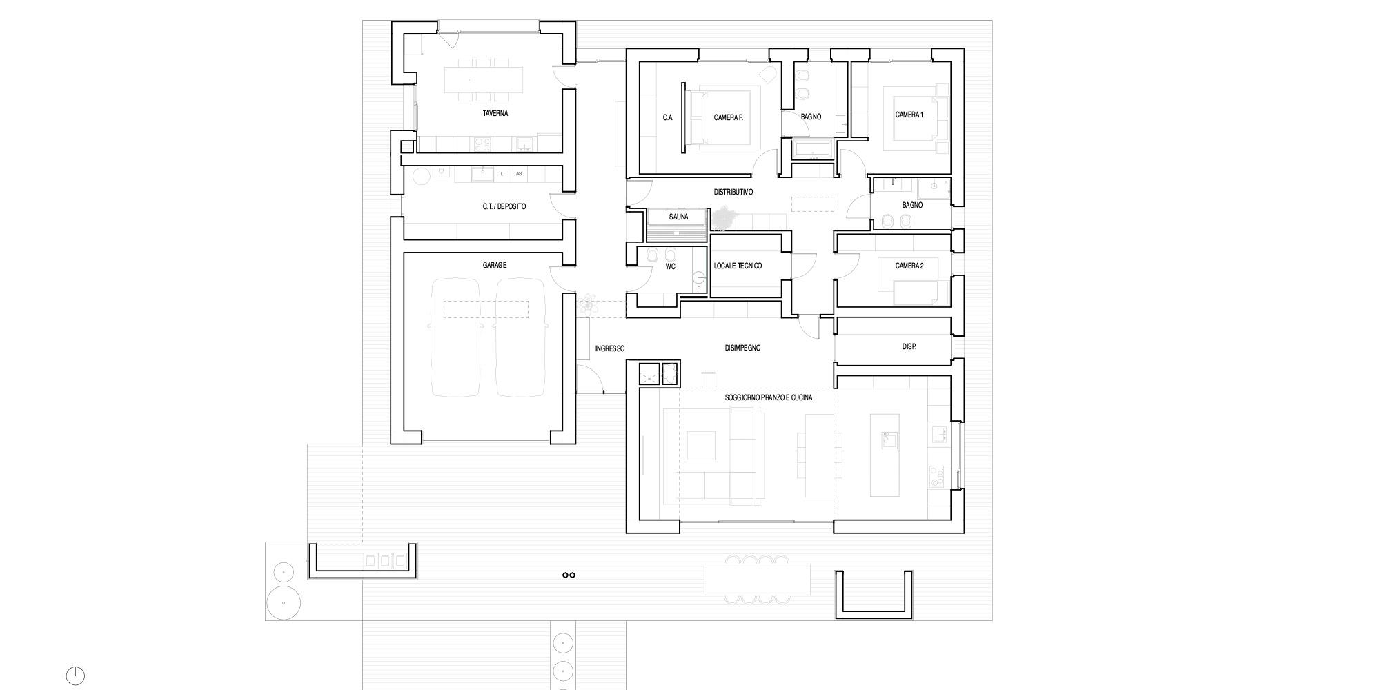 Pianta Piano Terra © Didonè Comacchio Architects