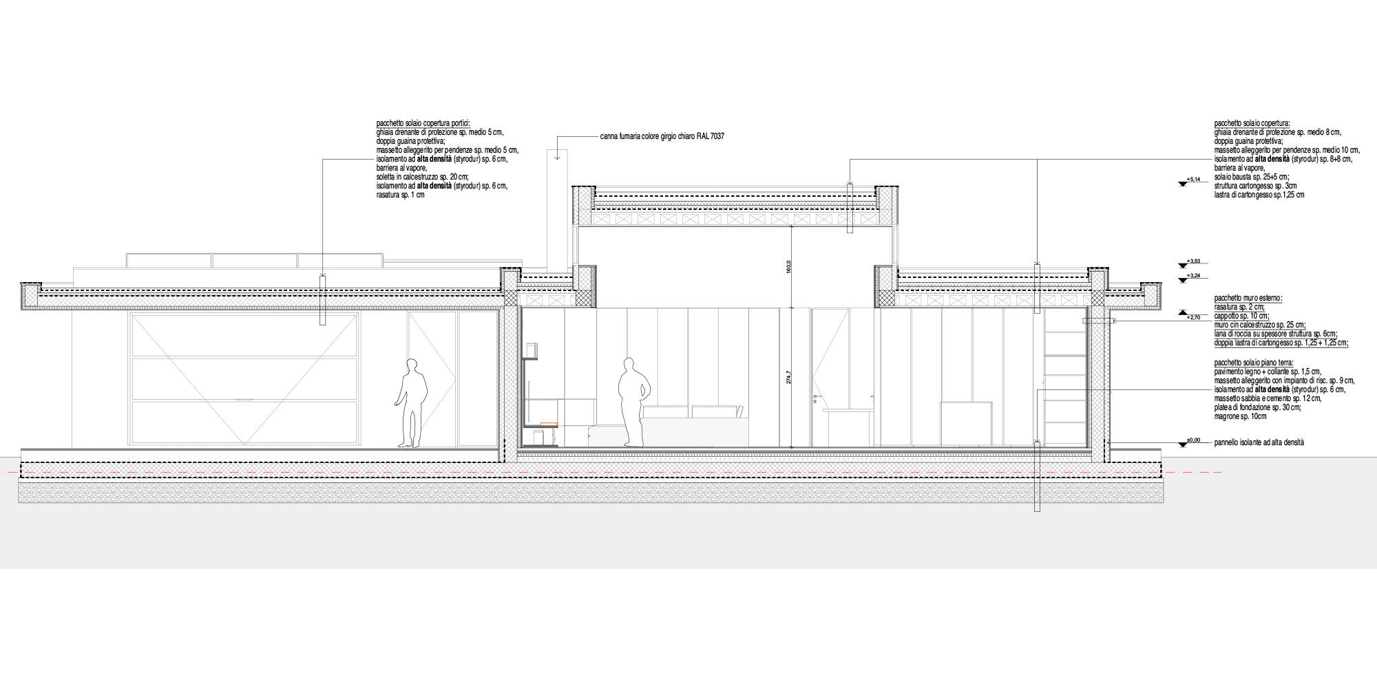 Sezione AA © Didonè Comacchio Architects