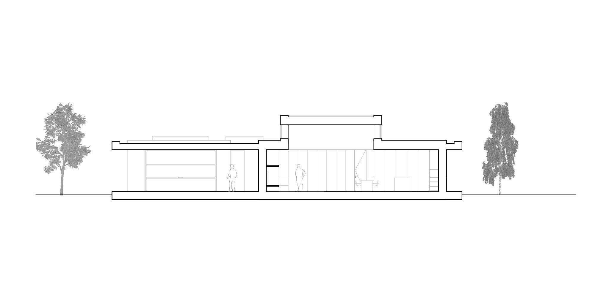 Sezione BB © Didonè Comacchio Architects