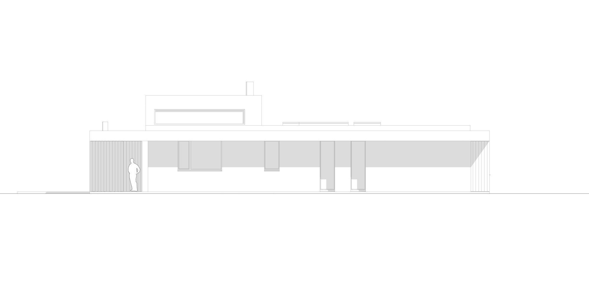Prospetto Est © Didonè Comacchio Architects