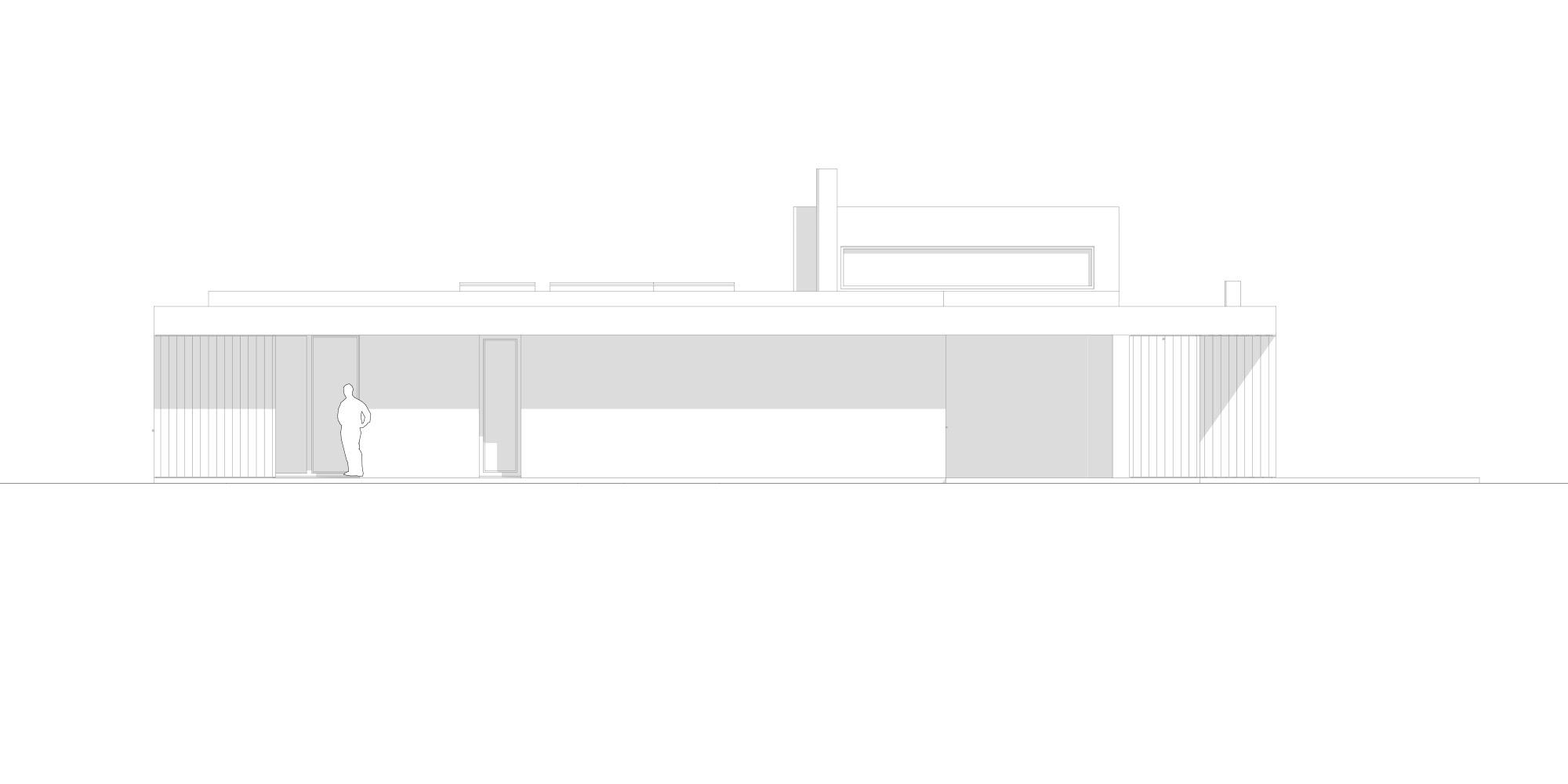 Prospetto Ovest © Didonè Comacchio Architects