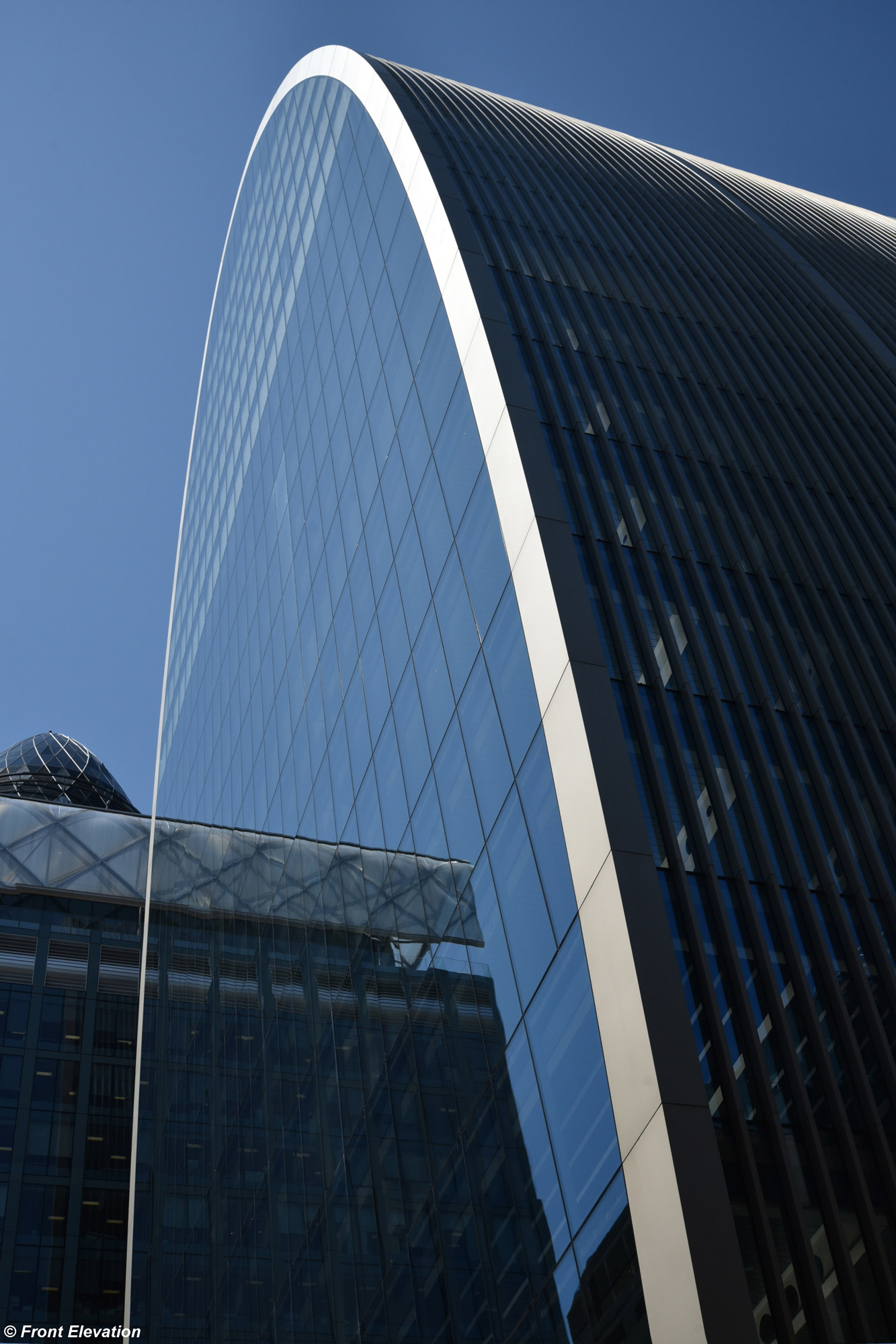 70 St. Mary Axe © Front Elevation, courtesy AGC Glass Europe