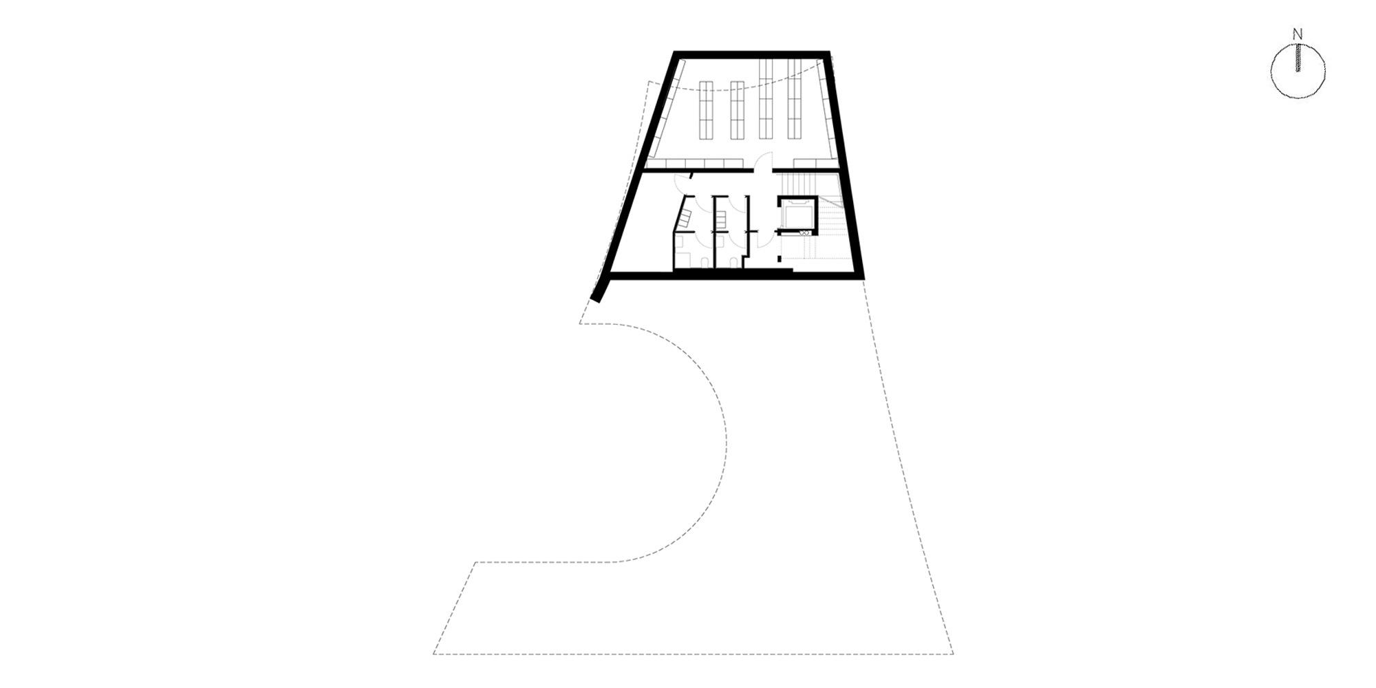 Pianta piano interrato © MoDus Architects