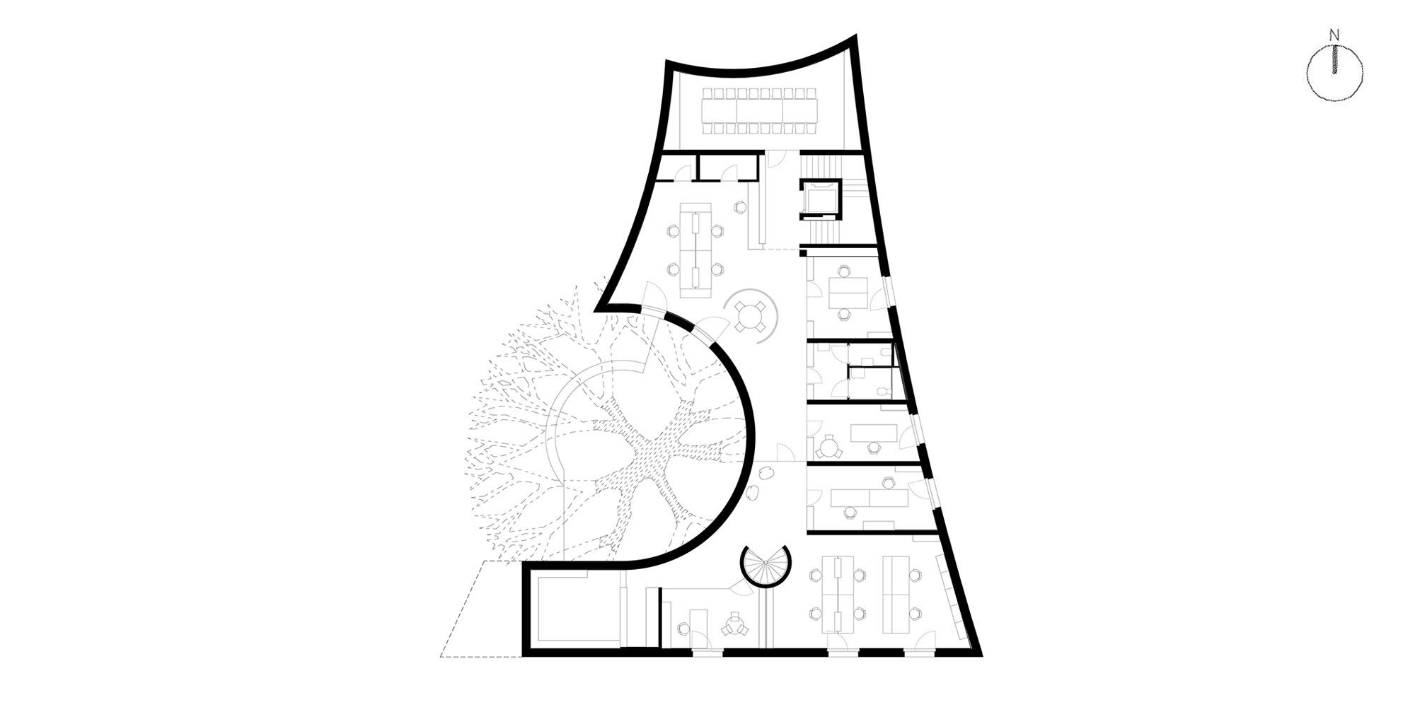 Pianta piano primo © MoDus Architects