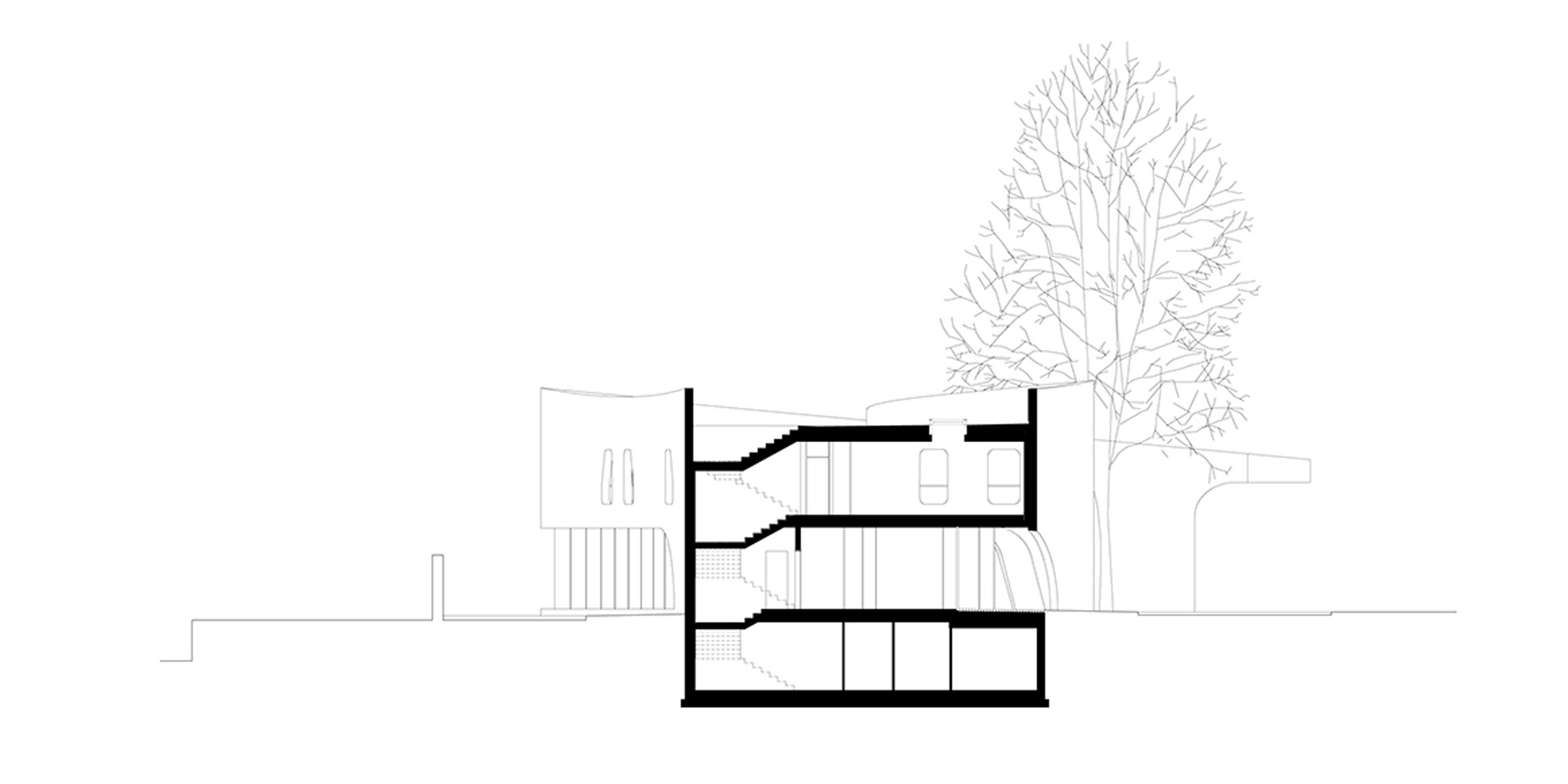 Sezione trasversale © MoDus Architects