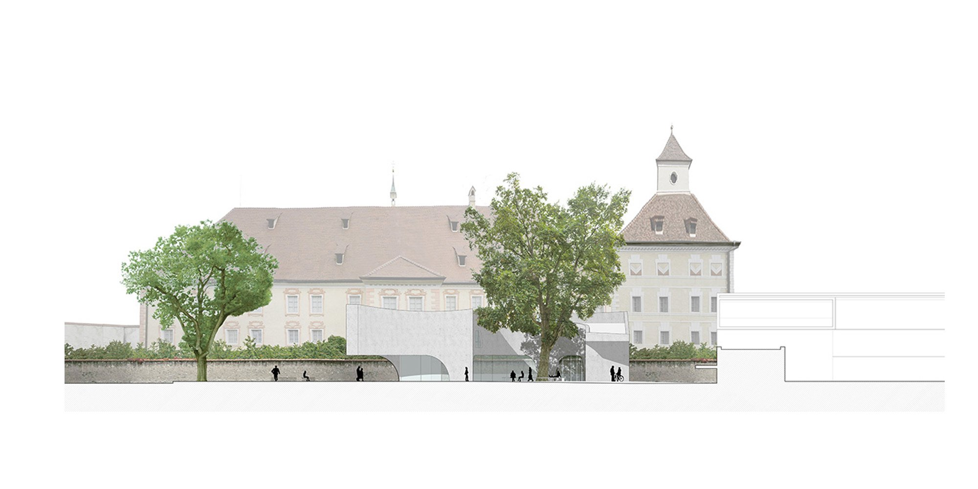 Prospetto ovest © MoDus Architects