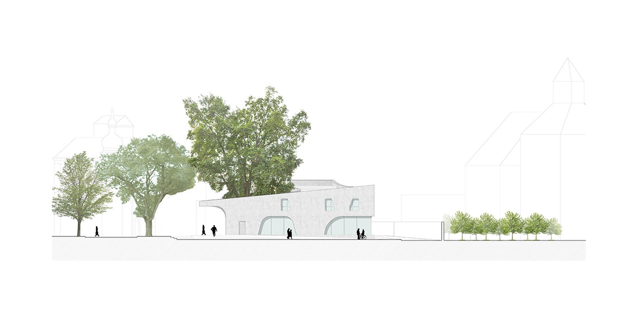 Prospetto sud © MoDus Architects