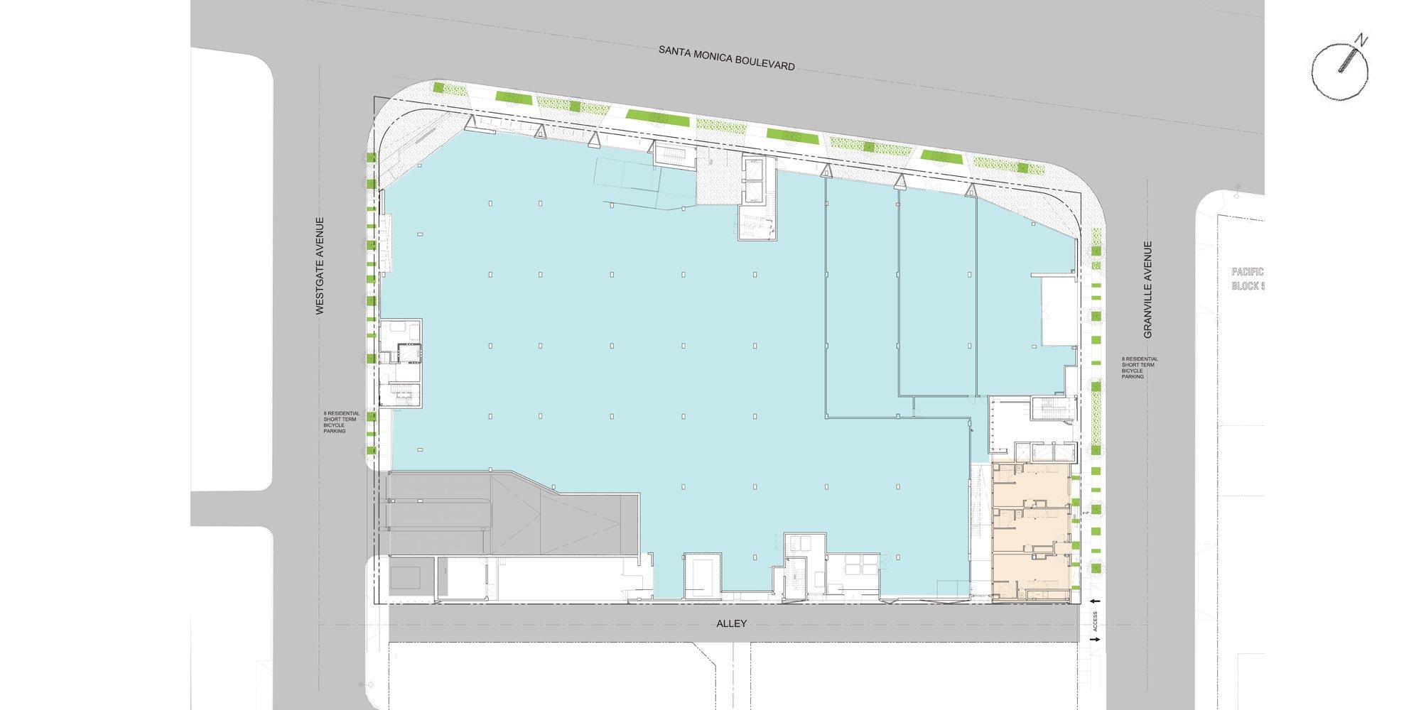 Pianta piano terra © Lorcan O'Herlihy Architects (LOHA)