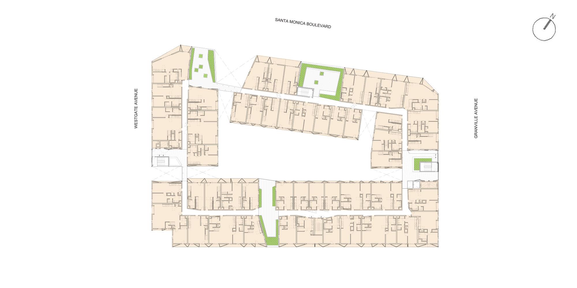 Pianta livello quarto © Lorcan O'Herlihy Architects (LOHA)