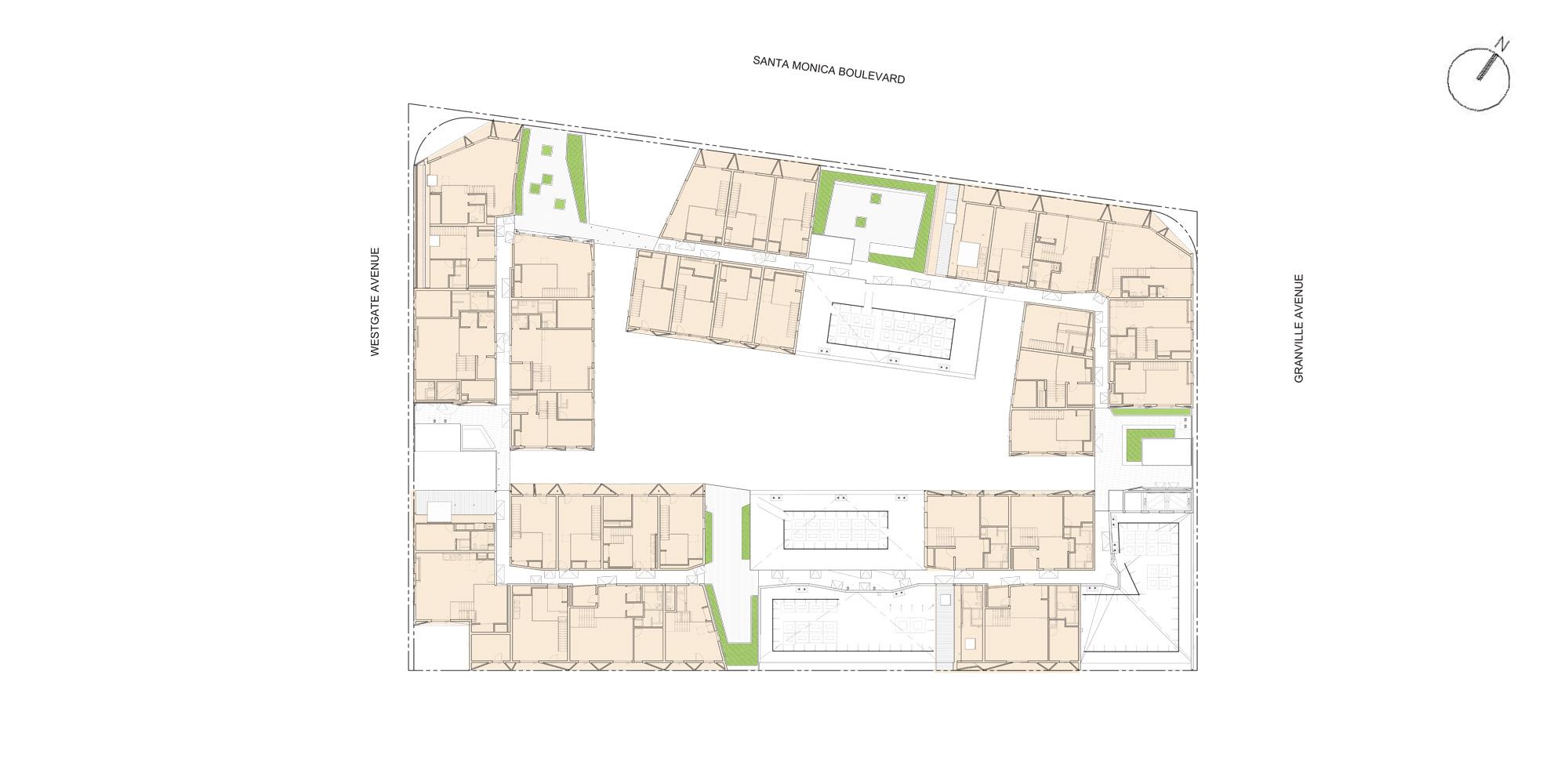 Pianta livello quinto © Lorcan O'Herlihy Architects (LOHA)