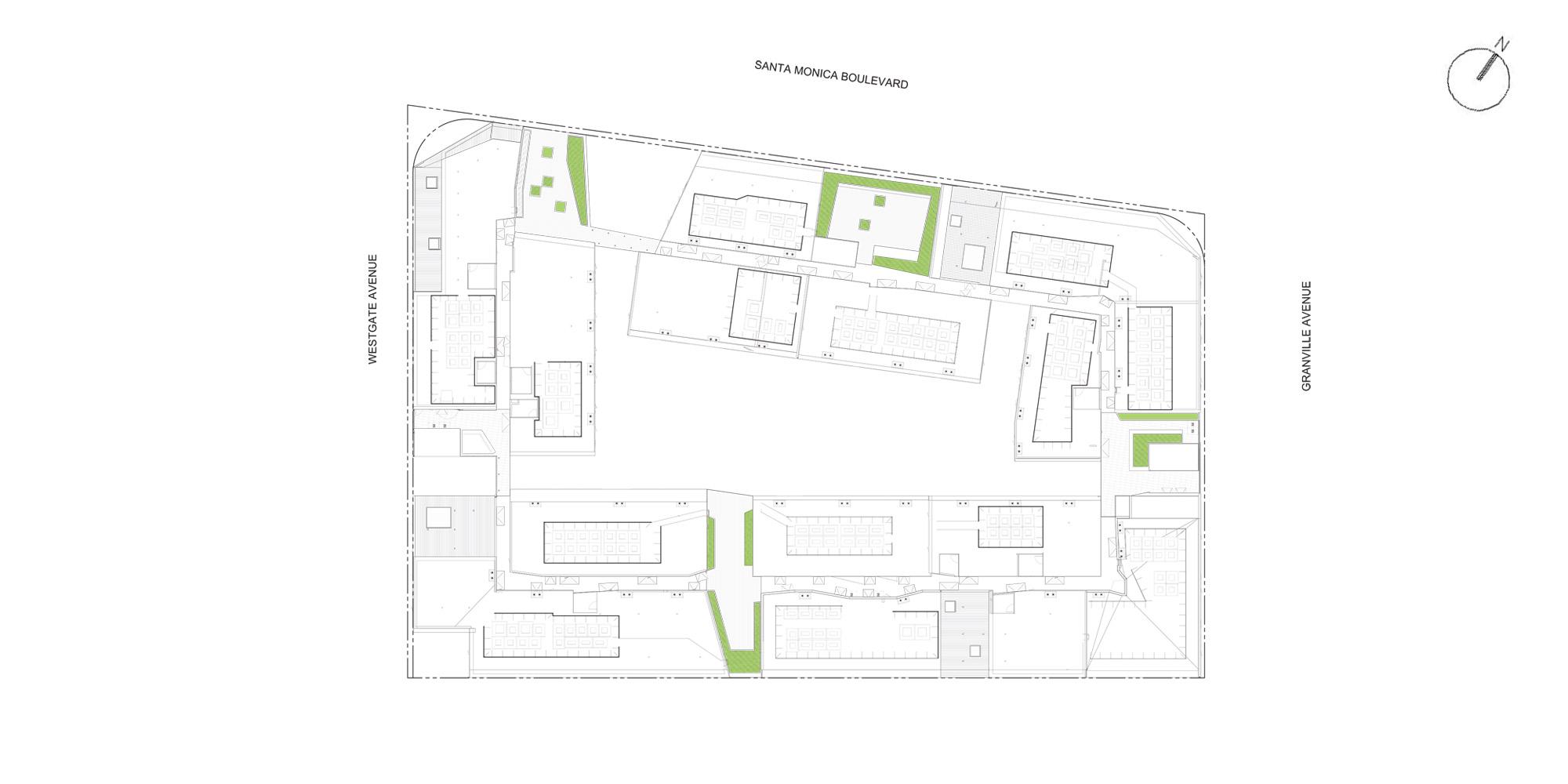 Pianta copertura © Lorcan O'Herlihy Architects (LOHA)