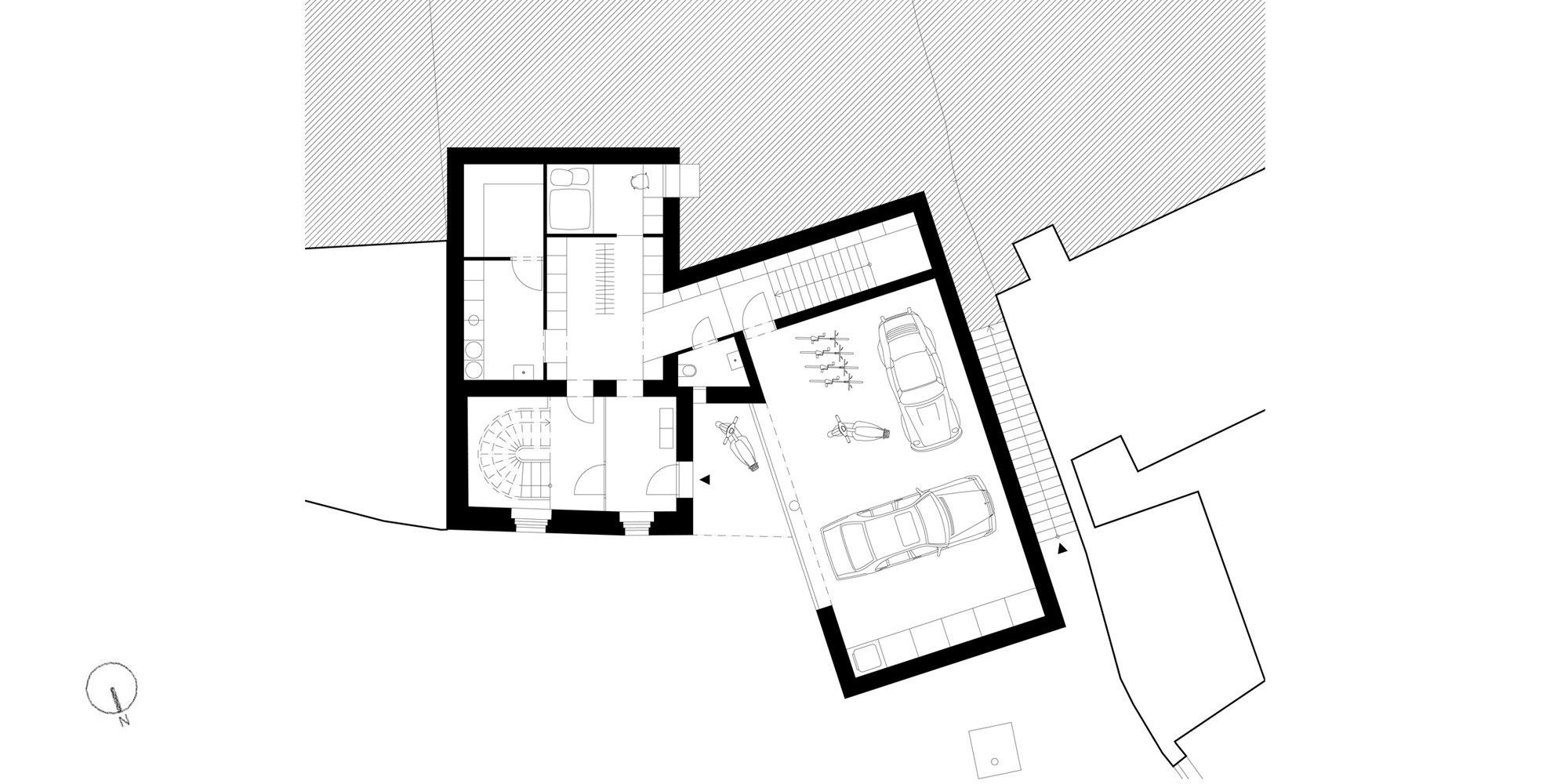 Pianta piano terra © Atelier 111 architekti