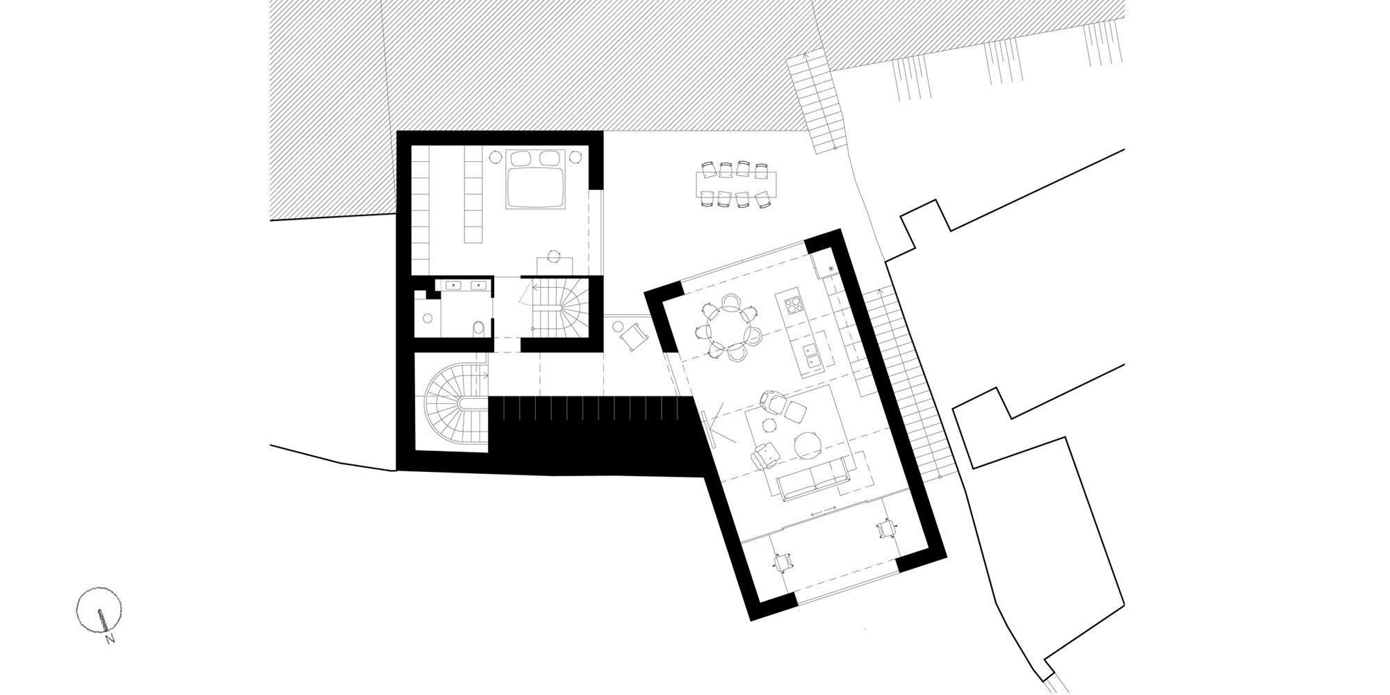 Pianta piano primo © Atelier 111 architekti