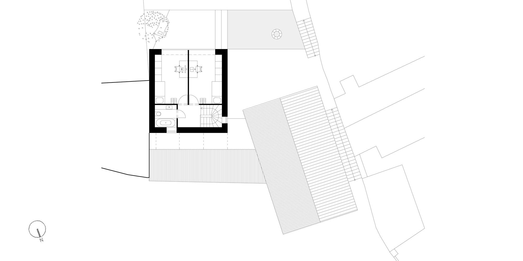 Pianta piano secondo © Atelier 111 architekti