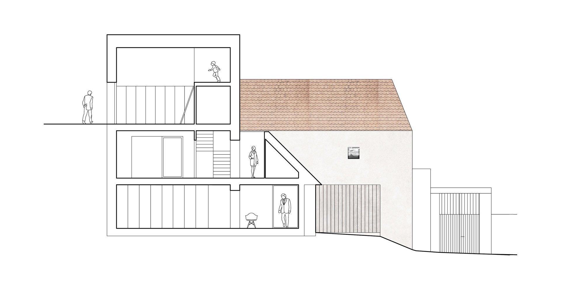 Sezione AA © Atelier 111 architekti