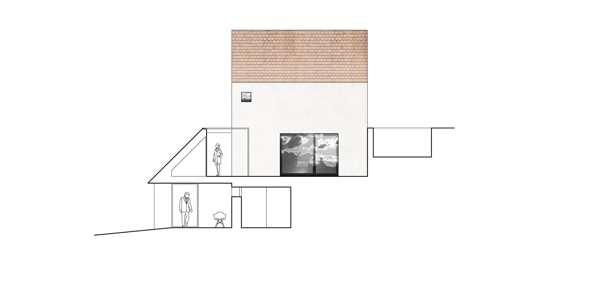 Sezione CC © Atelier 111 architekti