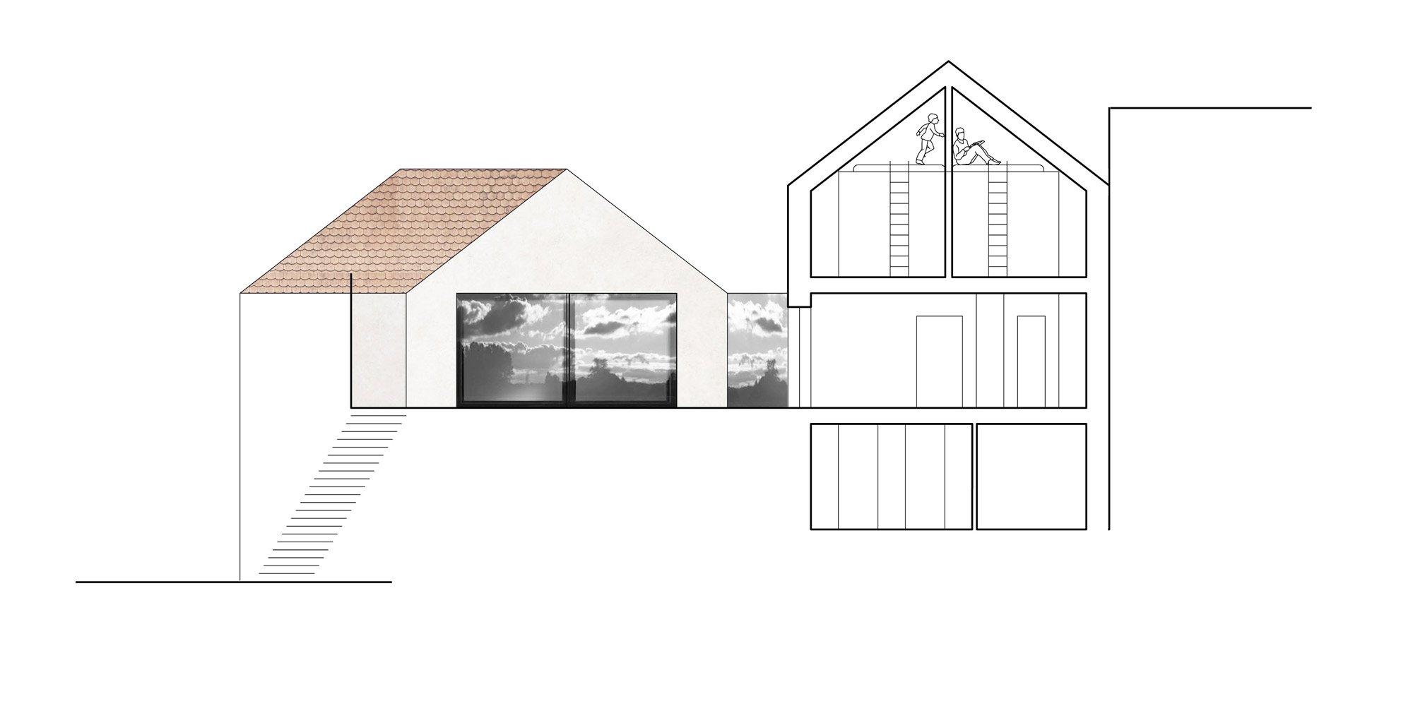 Sezione DD © Atelier 111 architekti