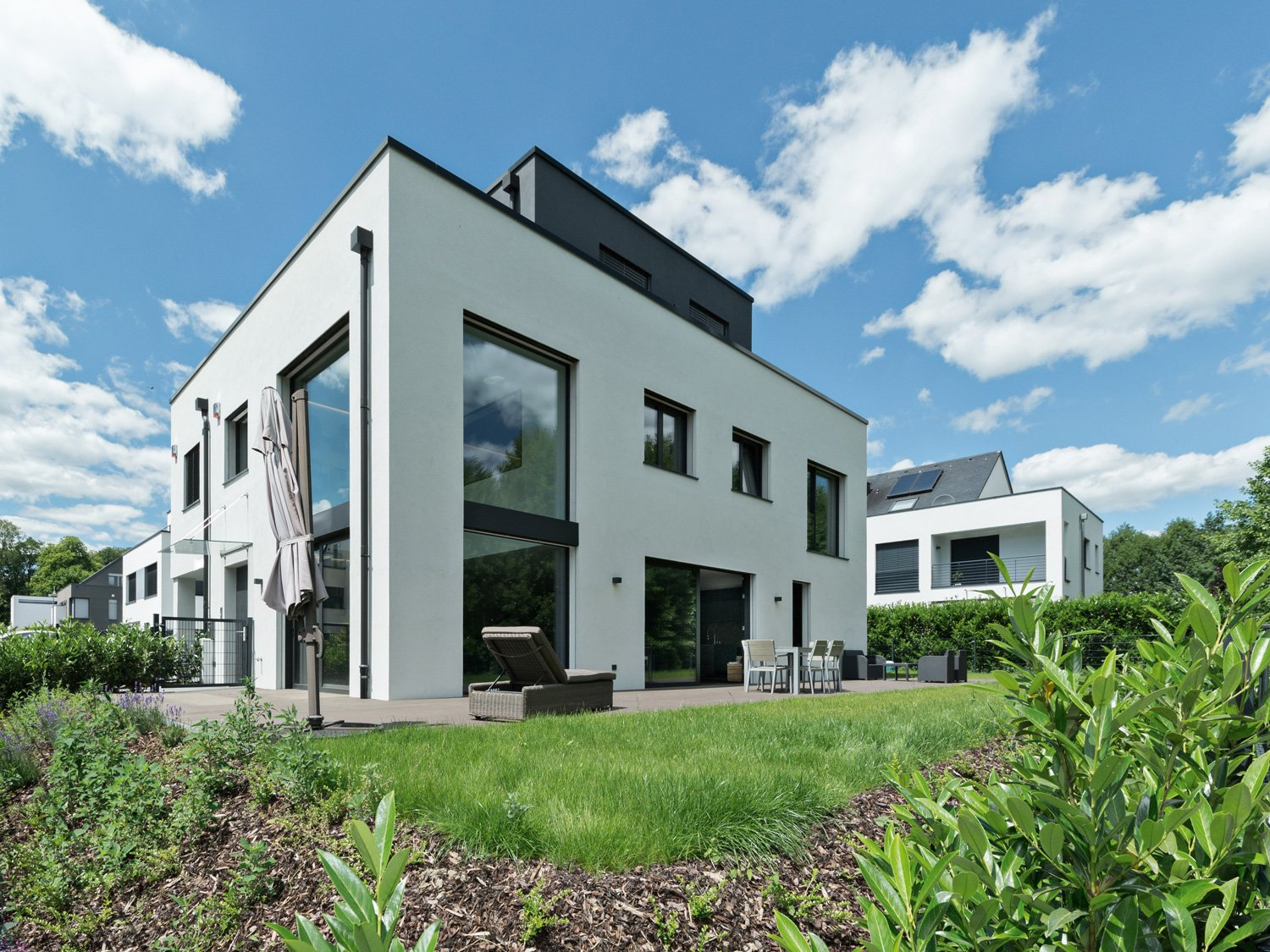 Domaine du Château, a house developed using Manni Green Tech for the developer Steel Home, Luxembour © Philippe Geoffroy