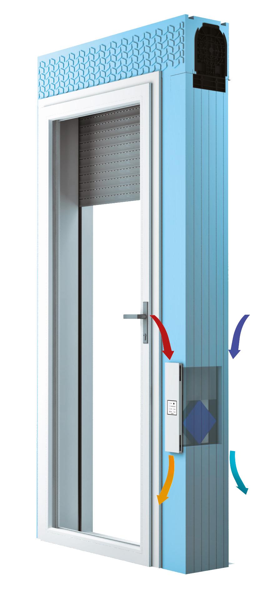 Sistema monoblocco Ingenius VMC con unità di ventilazione Compact.Lo scambiatore di calore entalpico