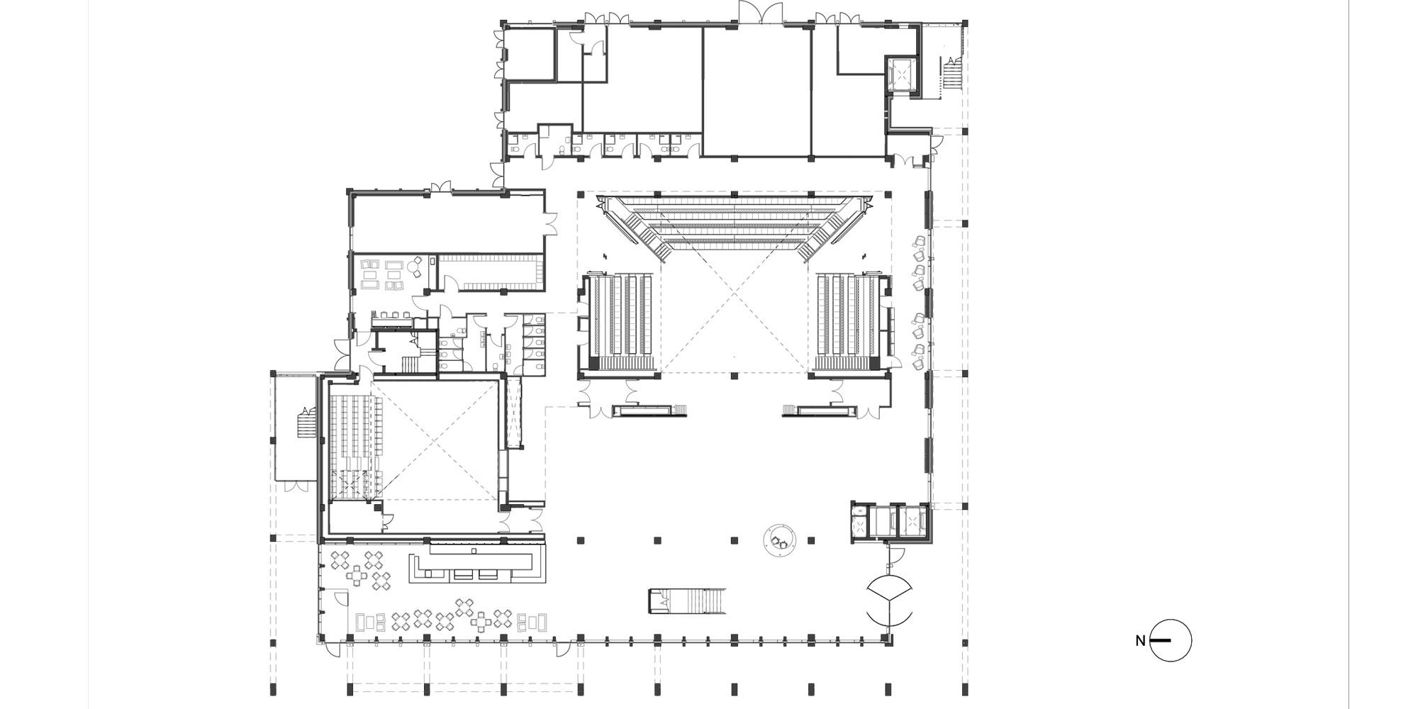 Pianta piano terra © Grafton Architects